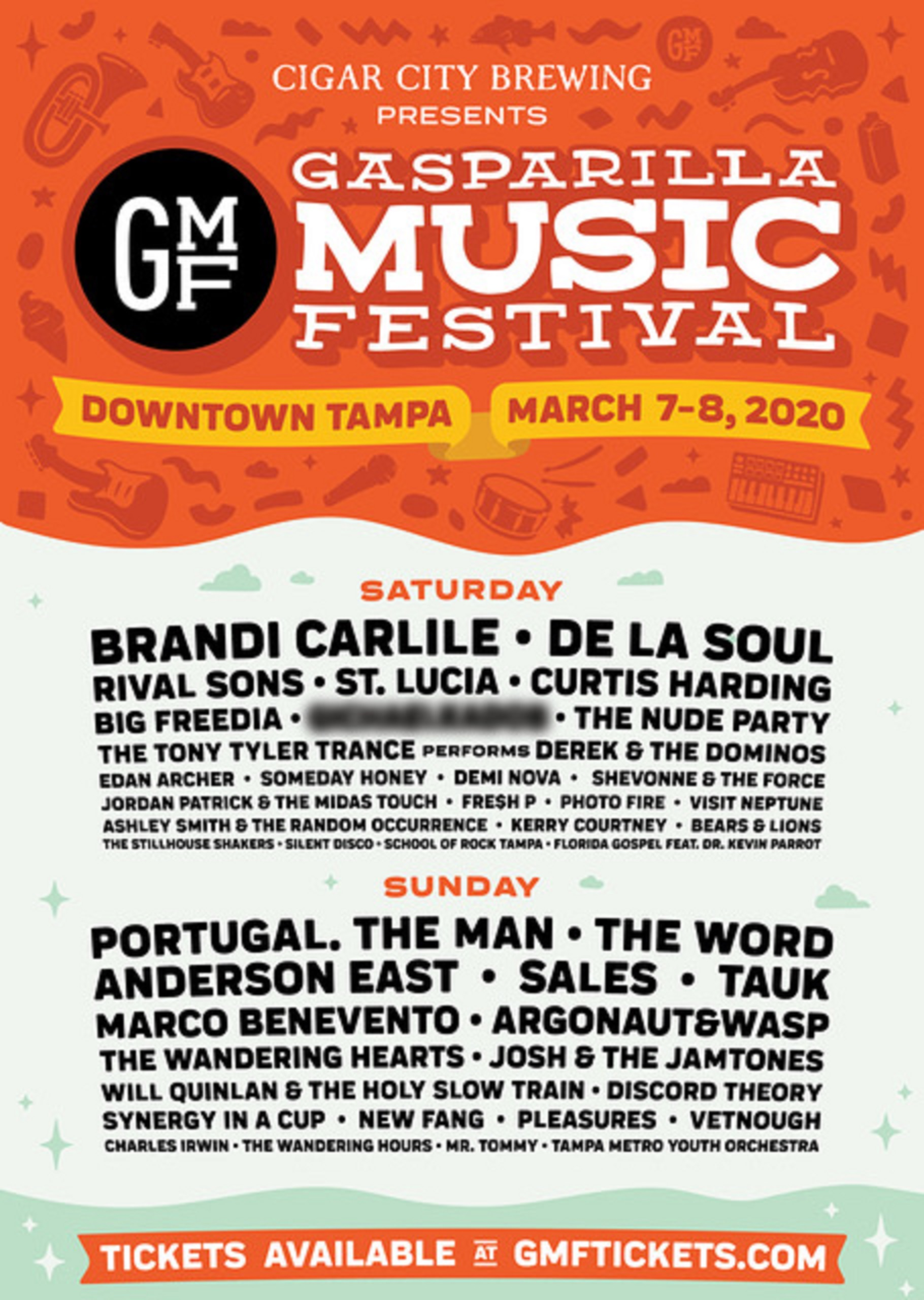 Tampa's Gasparilla Music Festival Releases Lineup and Performance Times