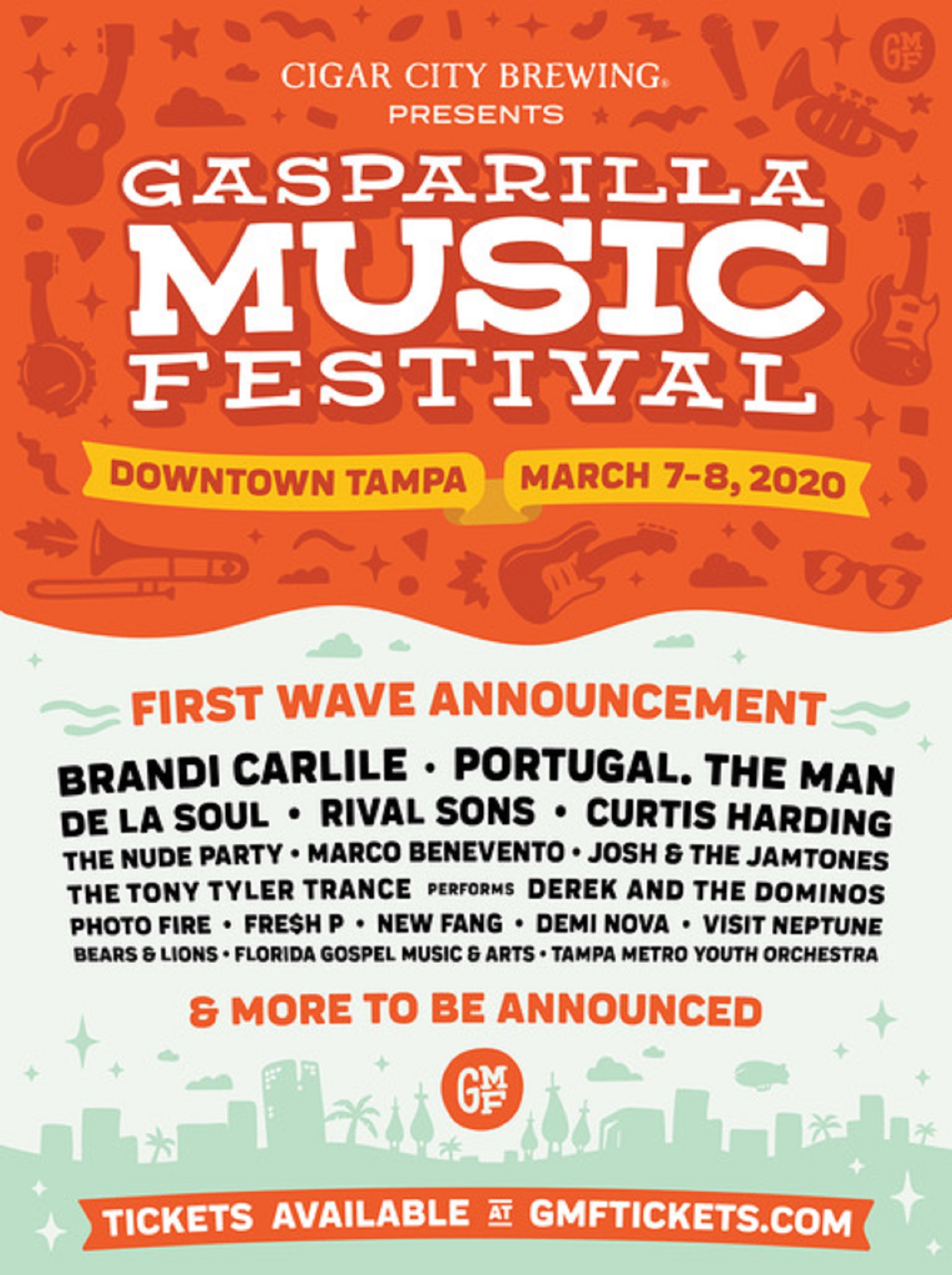 Gasparilla Music Festival 2020 Reveals First Wave of Bands