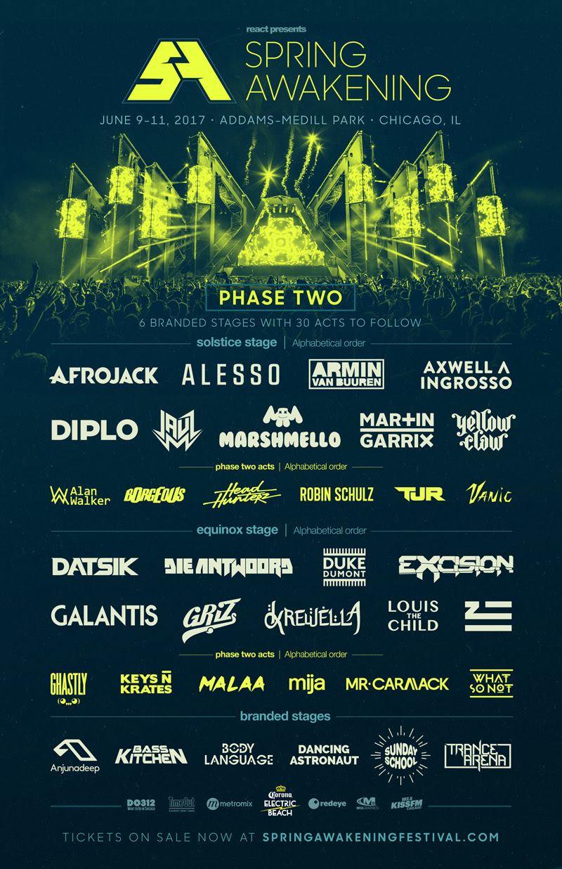 Spring Awakening Announces Phase 2 Lineup