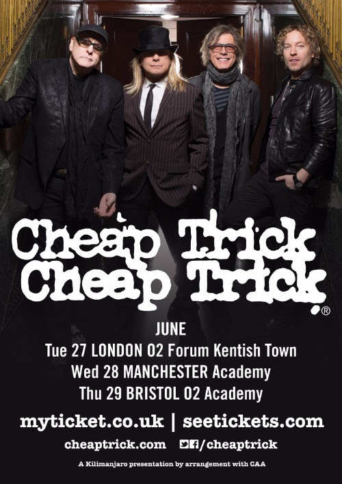 Cheap Trick Announce 2017 UK Tour