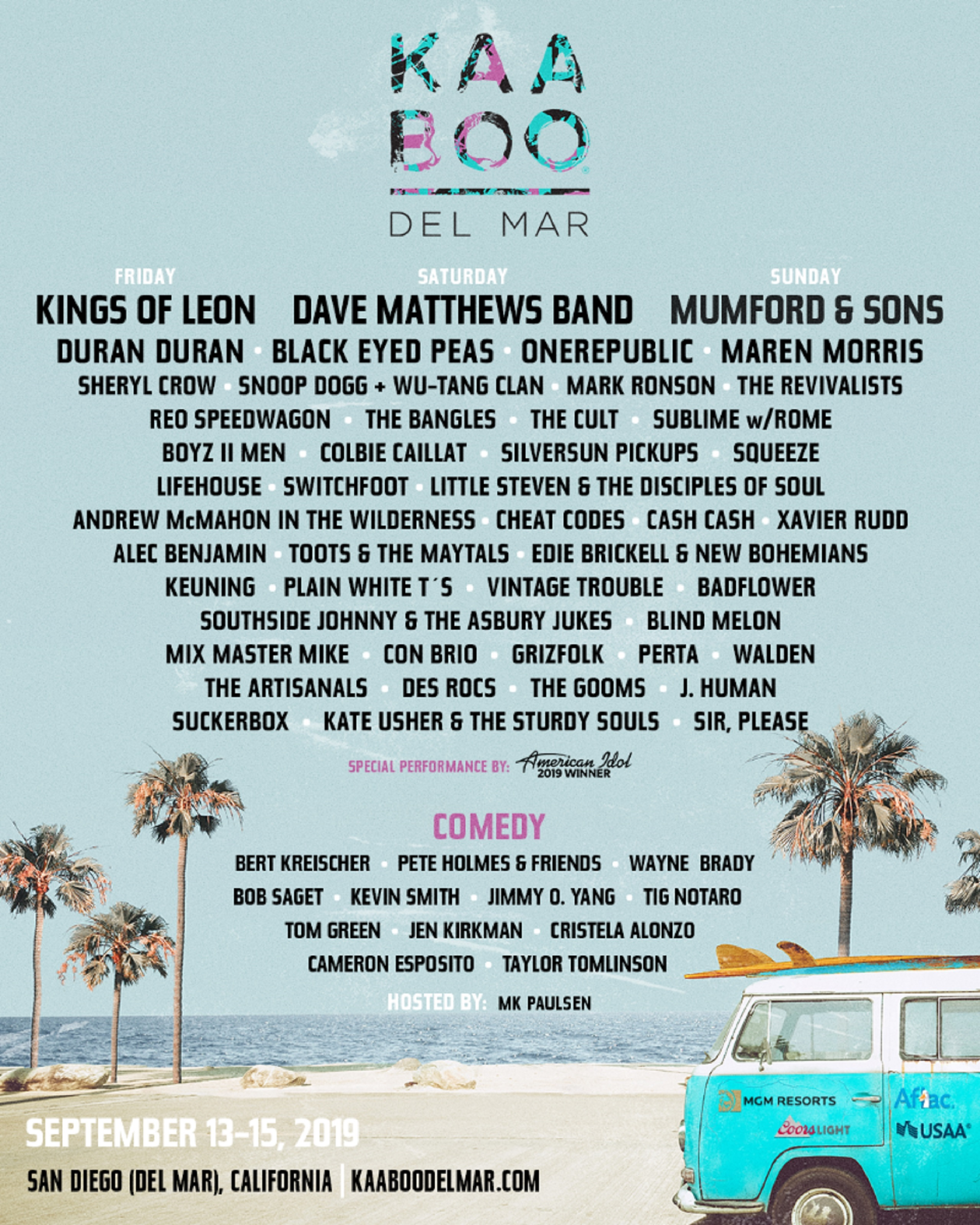 KAABOO Del Mar Announces 2019 Lineup