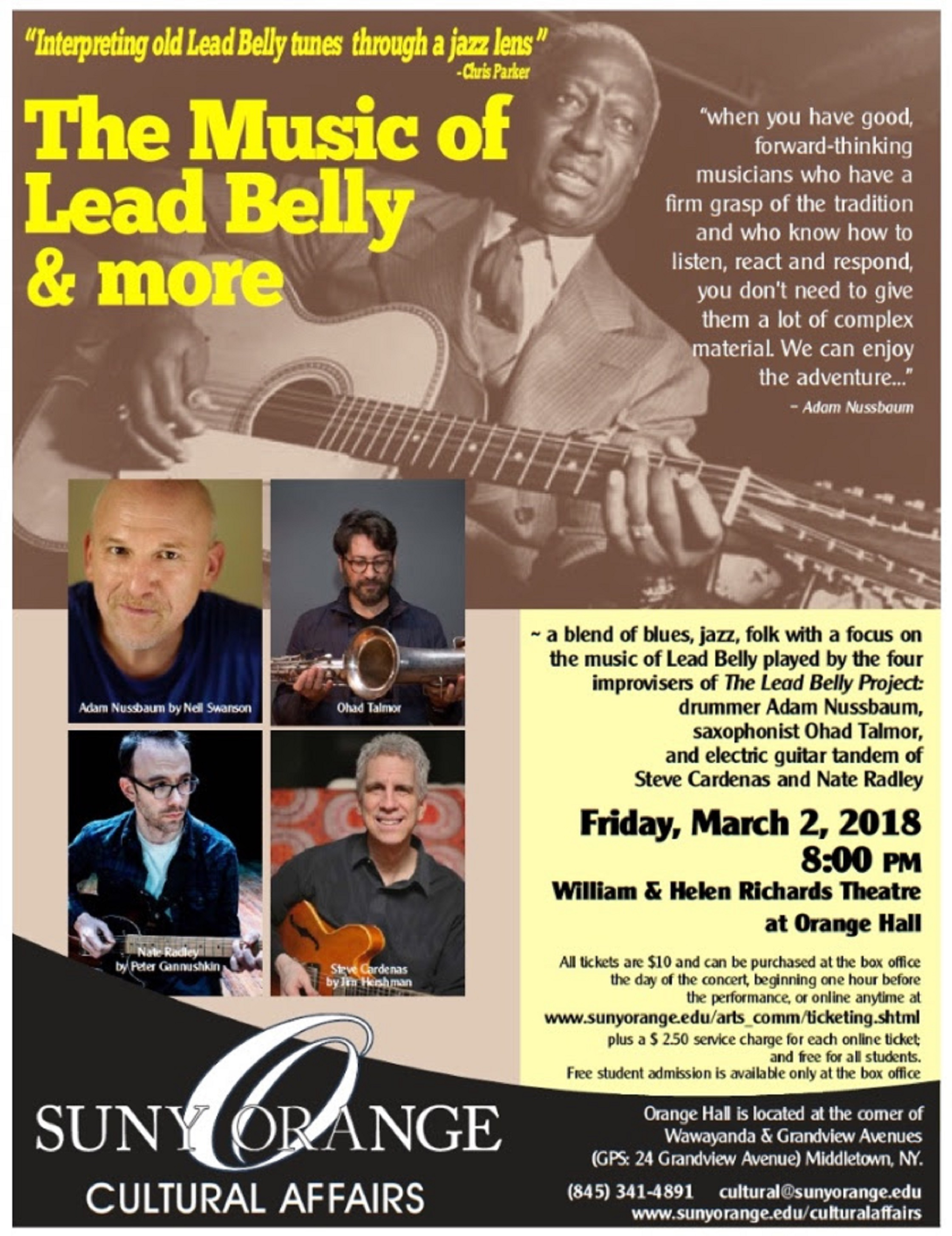 The Music of Lead Belly & more