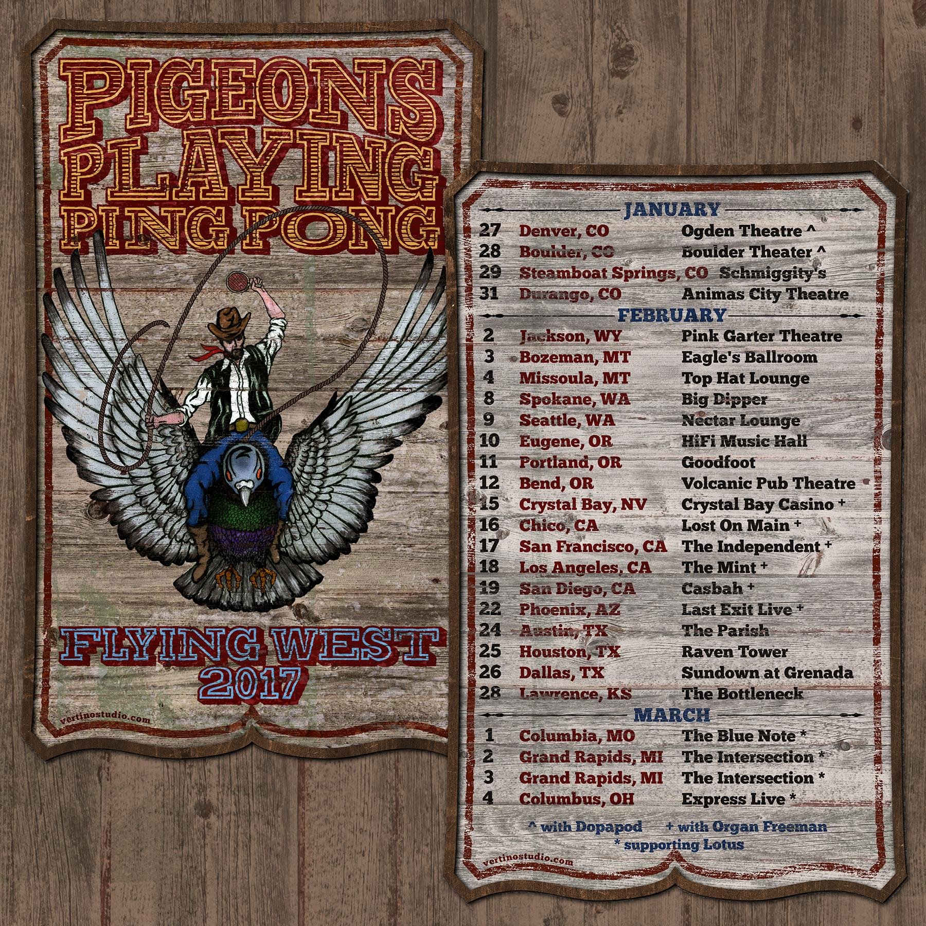 "Pigeons Playing Ping Pong Announces ""Flying West 2017"" Tour Dates"