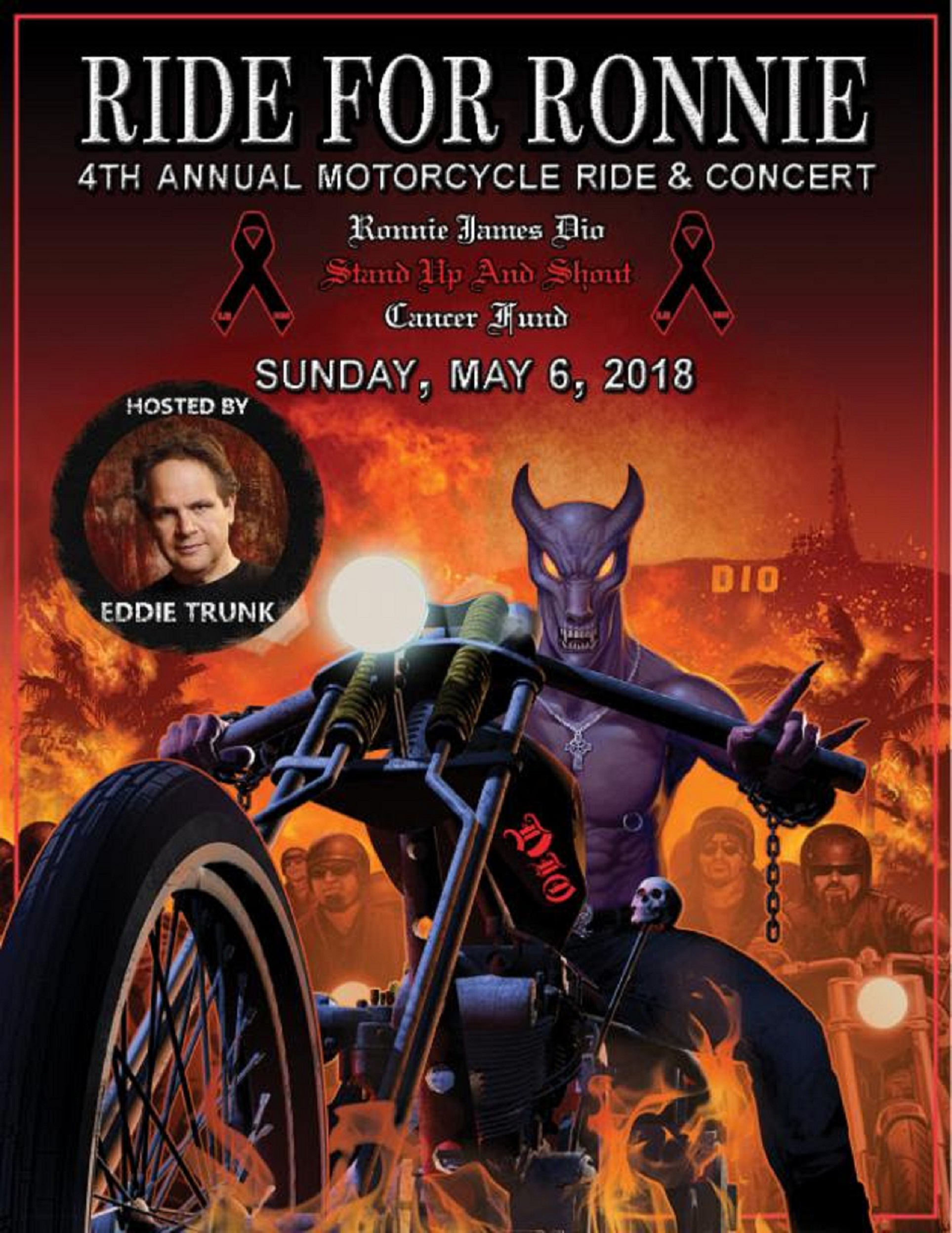 The 4th Annual RIDE FOR RONNIE Motorcycle Ride & Concert