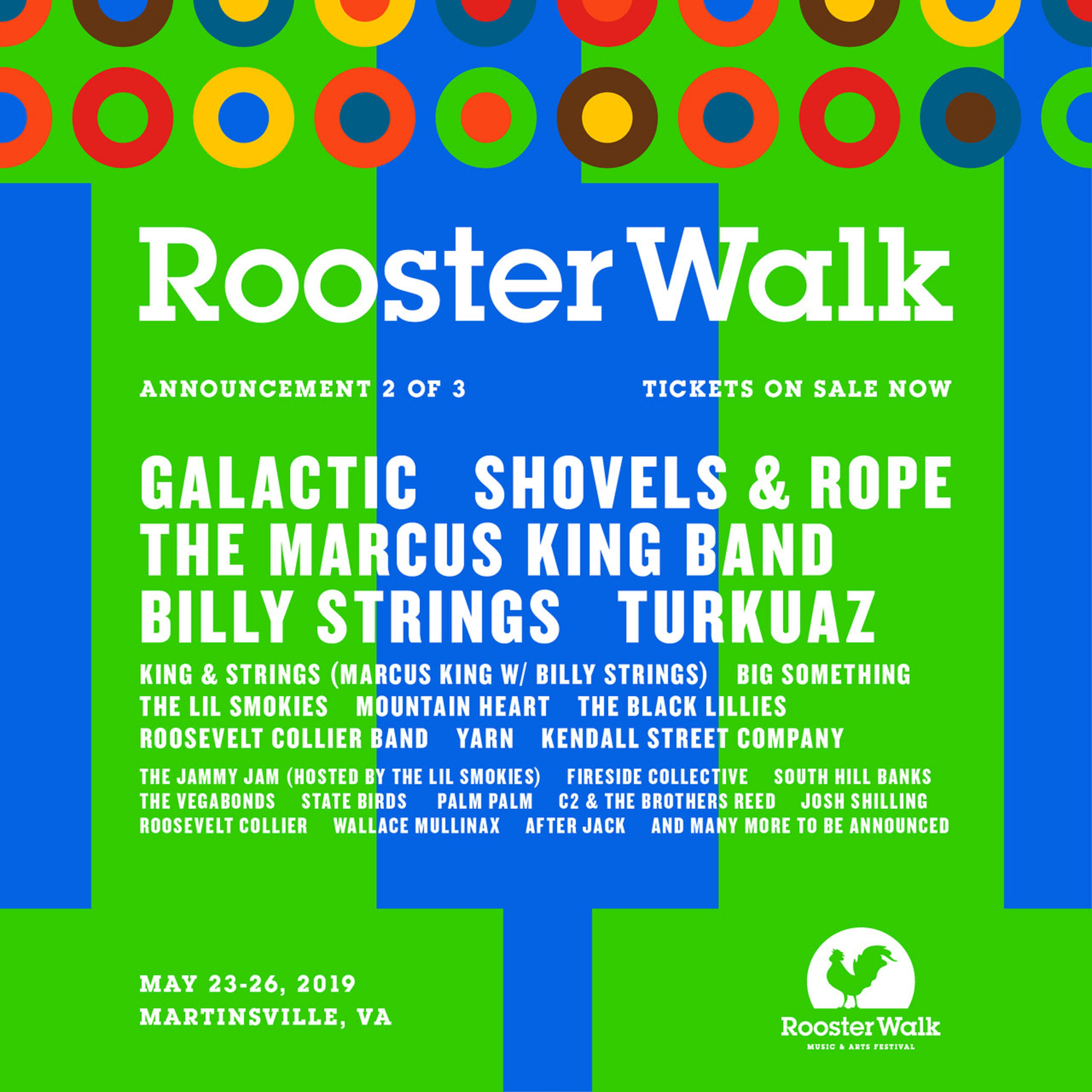 Rooster Walk Reveals 11th Annual Lineup