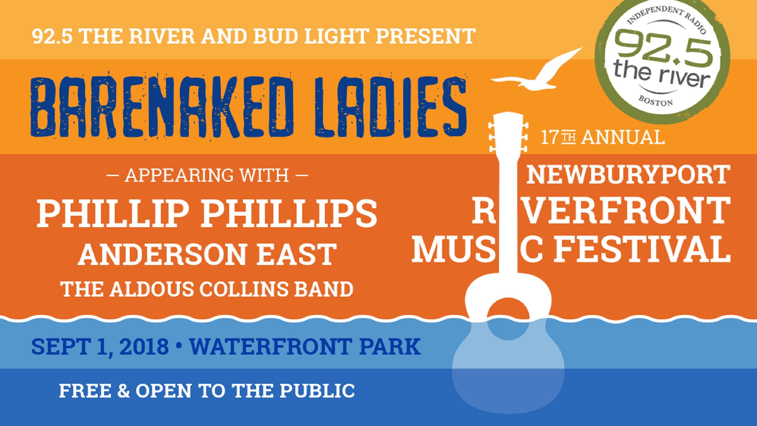 Barenaked Ladies to headline The River's Free 17th Annual Newburyport Riverfront Music Festival