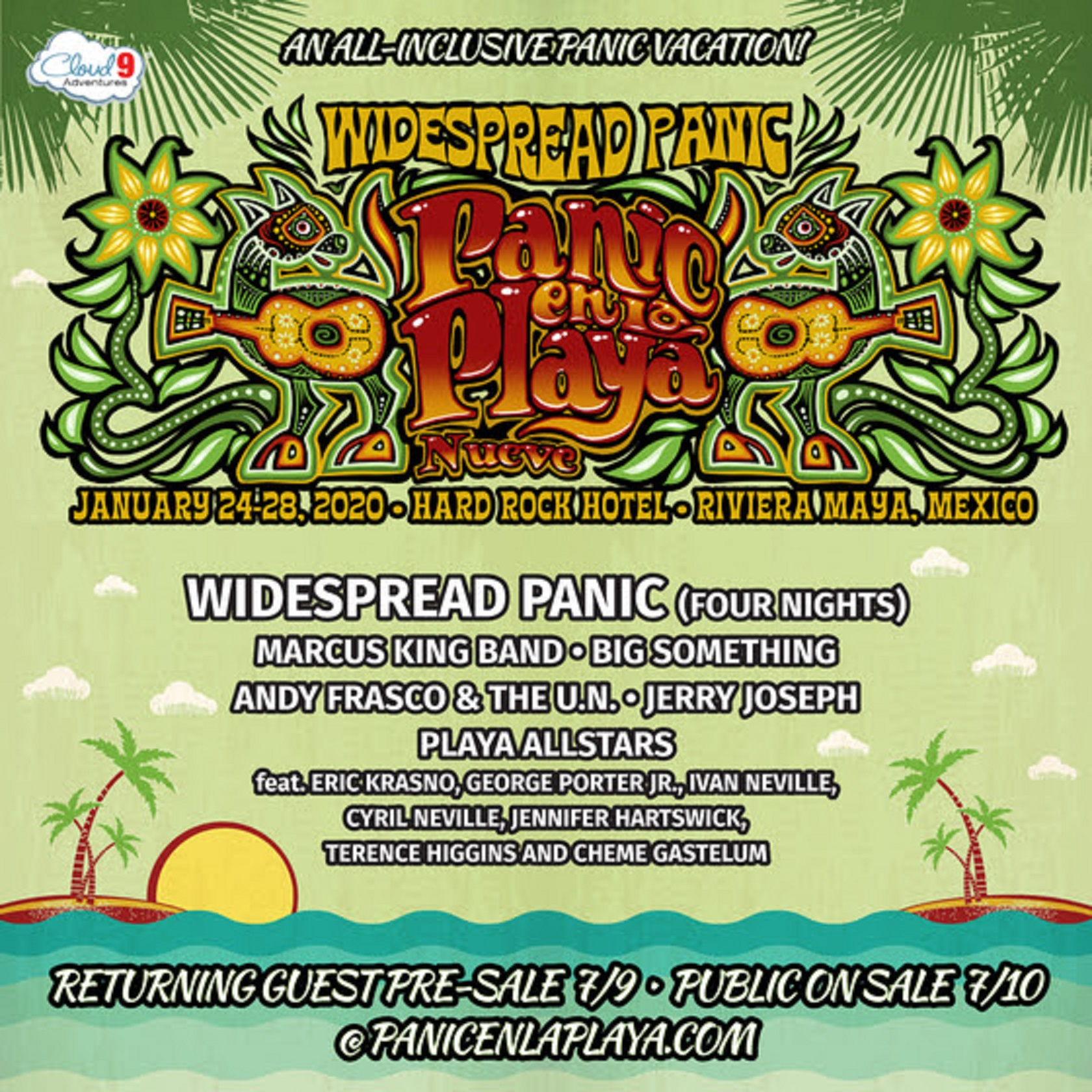 Widespread Panic Announces Panic En La Playa Nueve January 24–28