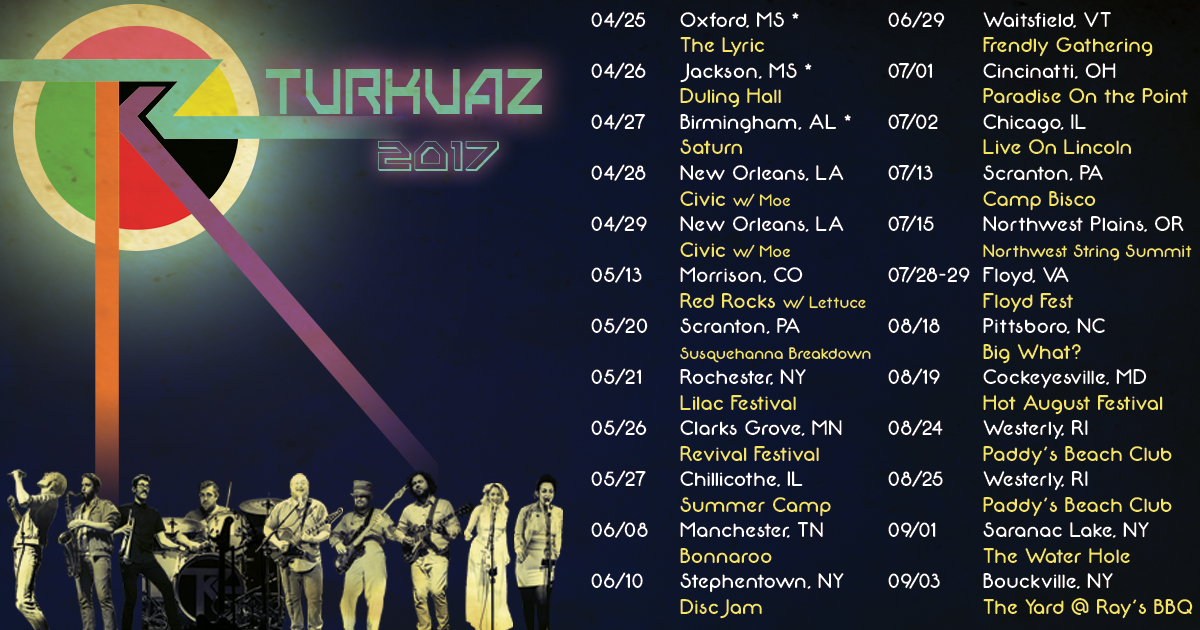 Turkuaz Announces Summer Club Dates