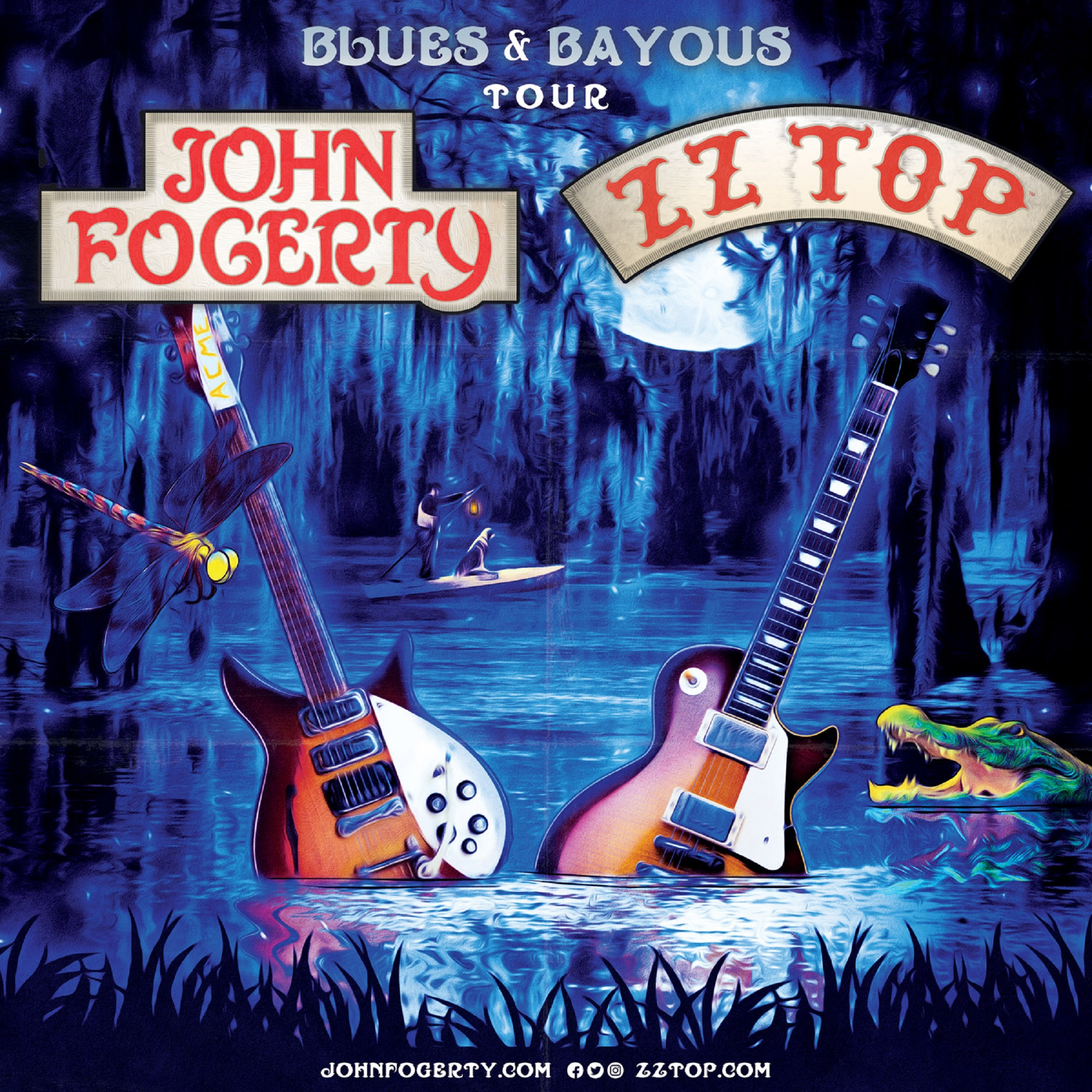 "John Fogerty & ZZ Top Announce ""Blues and Bayous Tour"""