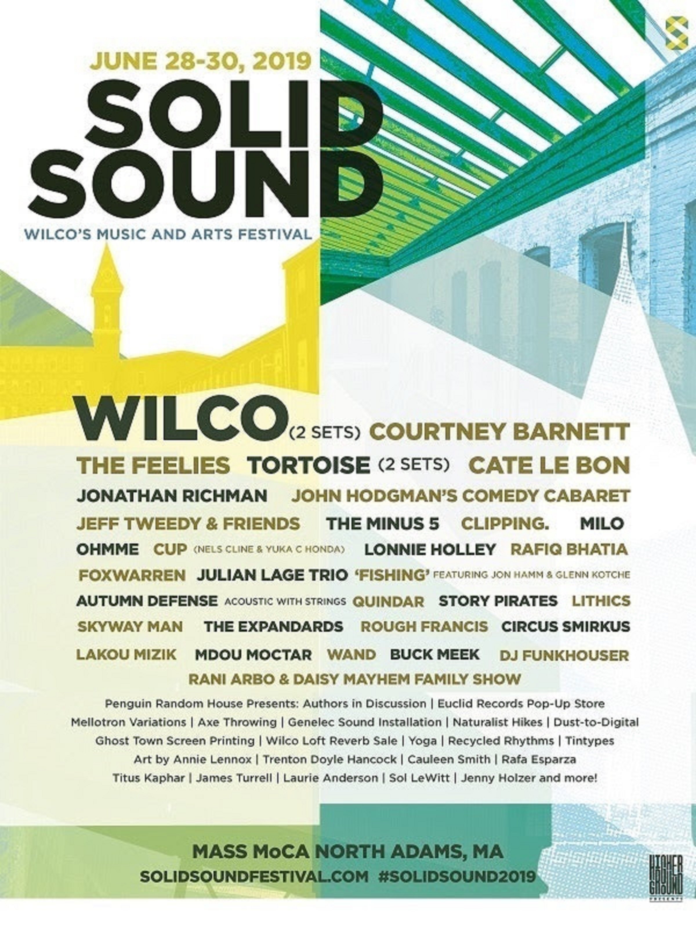 Wilco's Solid Sound Festival Announces Authors & Comedians