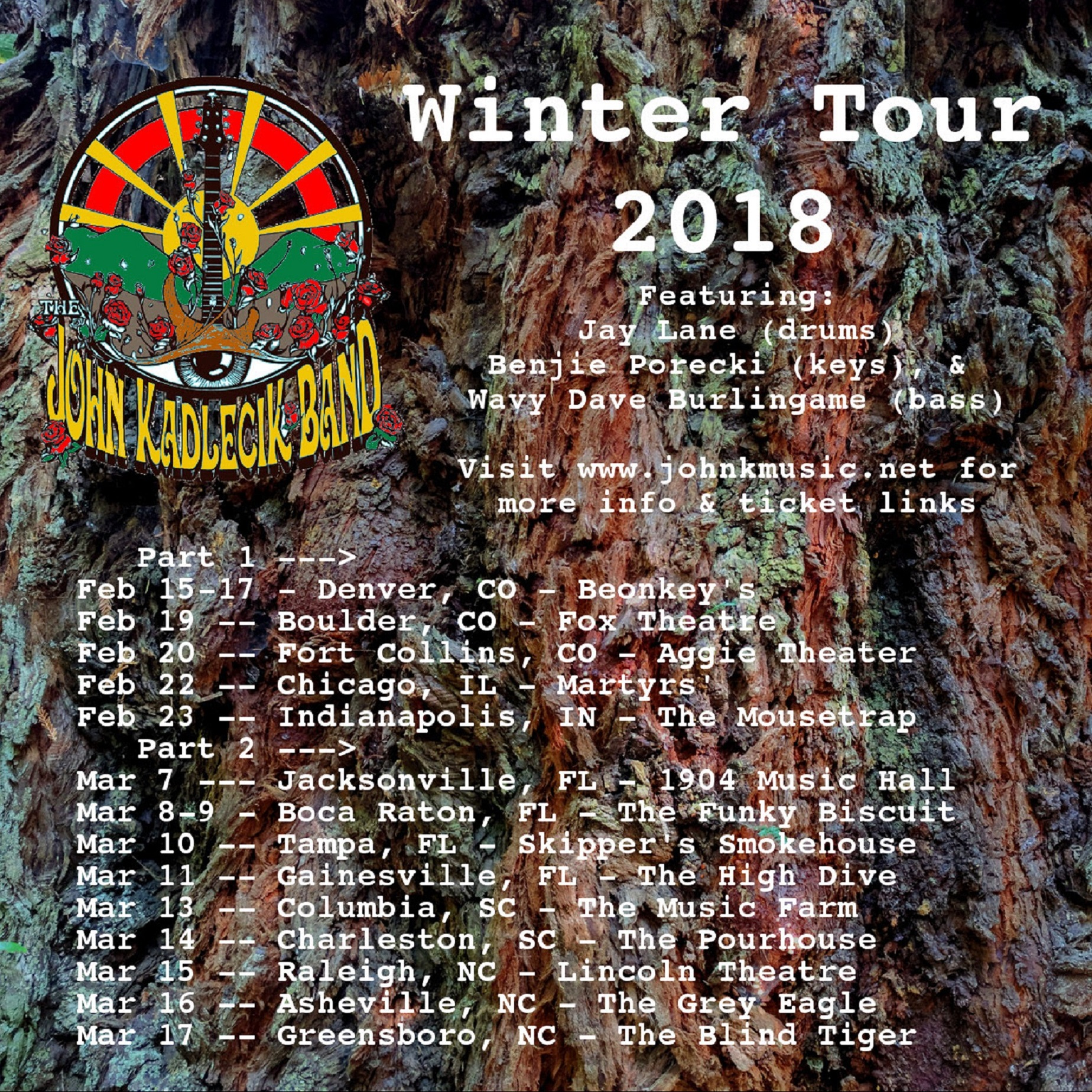 John Kadlecik Band Winter Tour 2018