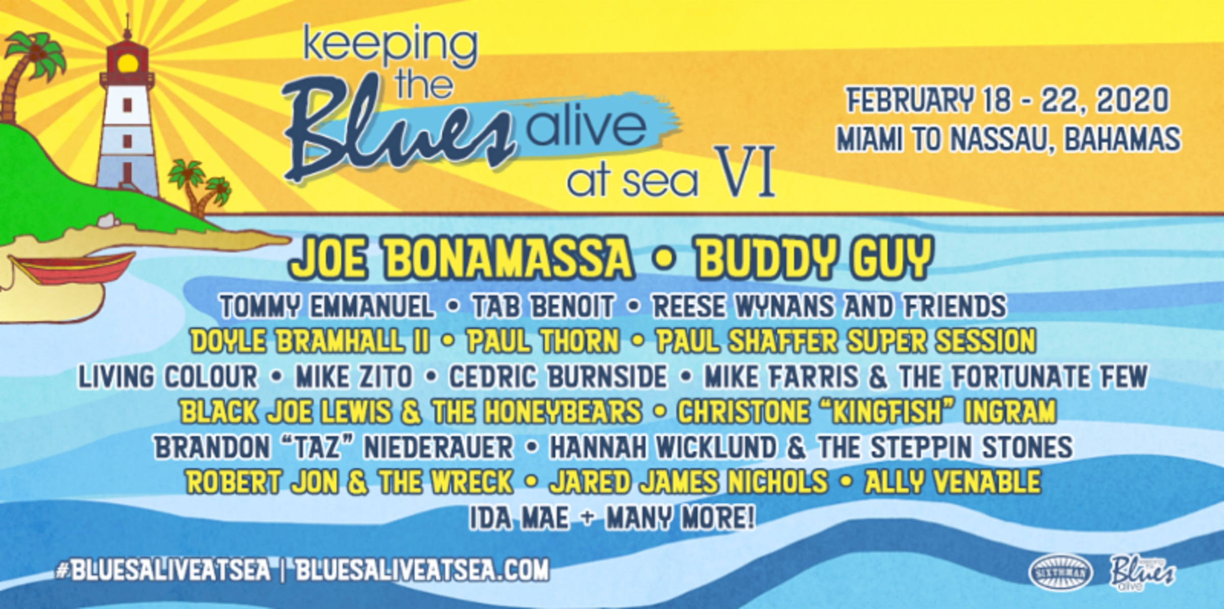 Blues Cruise 2020.Joe Bonamassa Makes History With Two Sold Out Festivals In