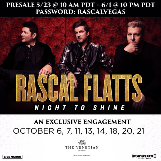 Rascal Flatts Returns To Las Vegas in Oct.