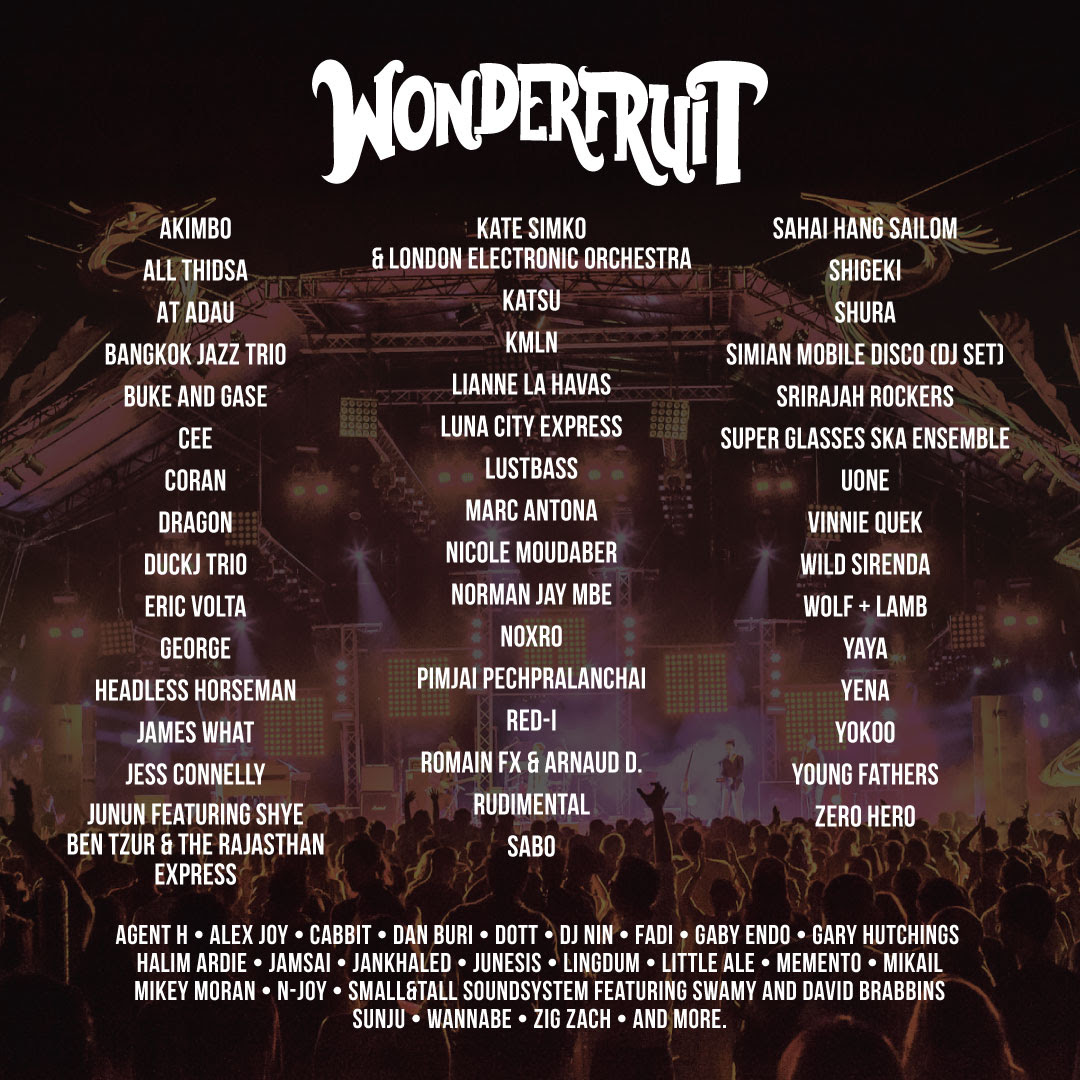 Wonderfruit in Thailand adds More Artists