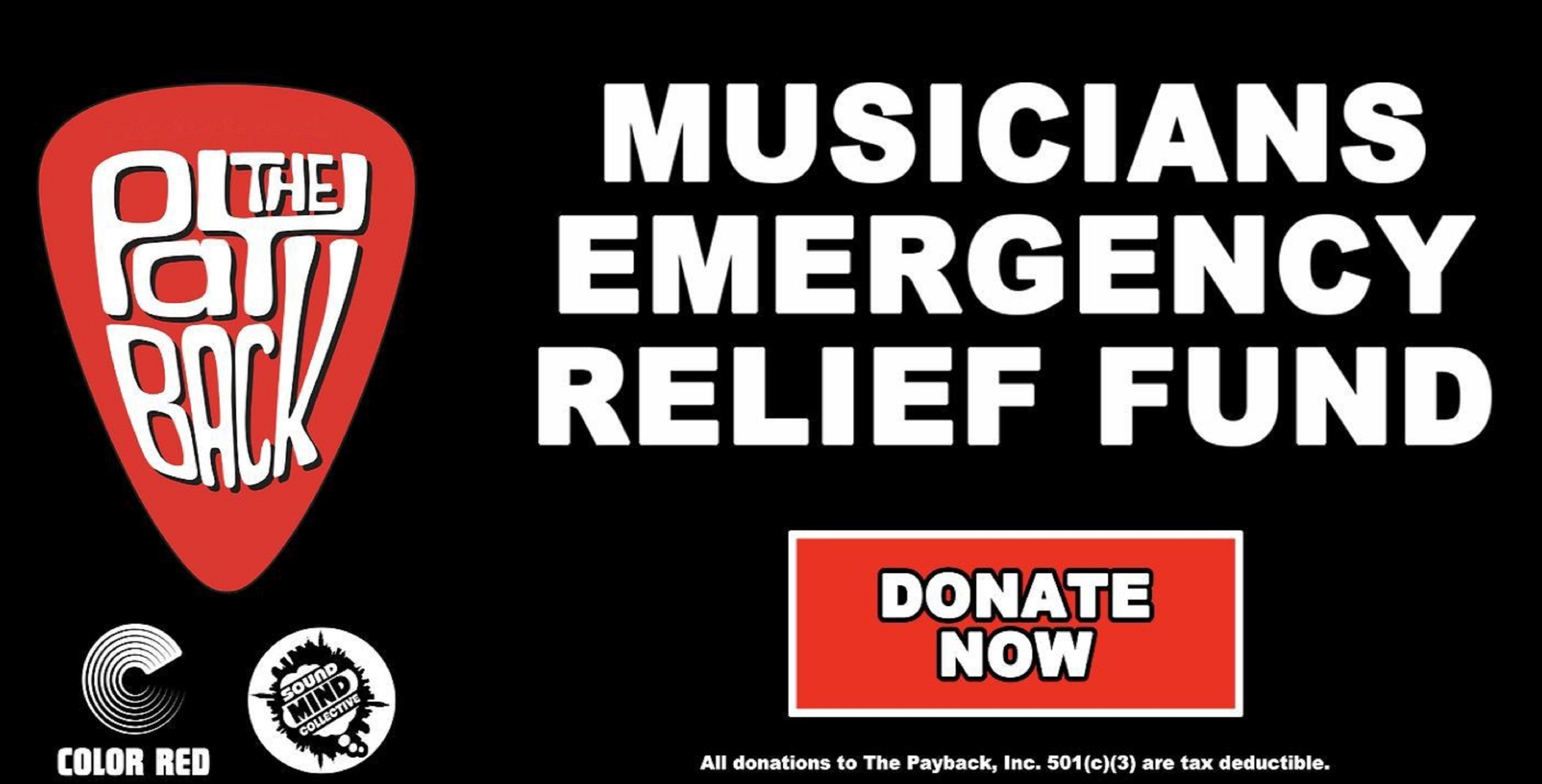 Eddie Roberts' Payback, Color Red & The Sound Mind Collective partner to launch Musicians' Relief Fund