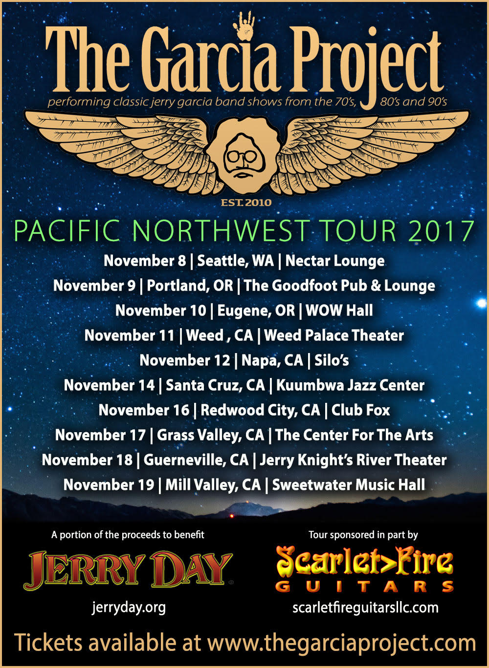 The Garcia Project 2017 Northwest Shows