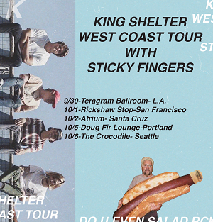 King Shelter On West Coast Tour Now