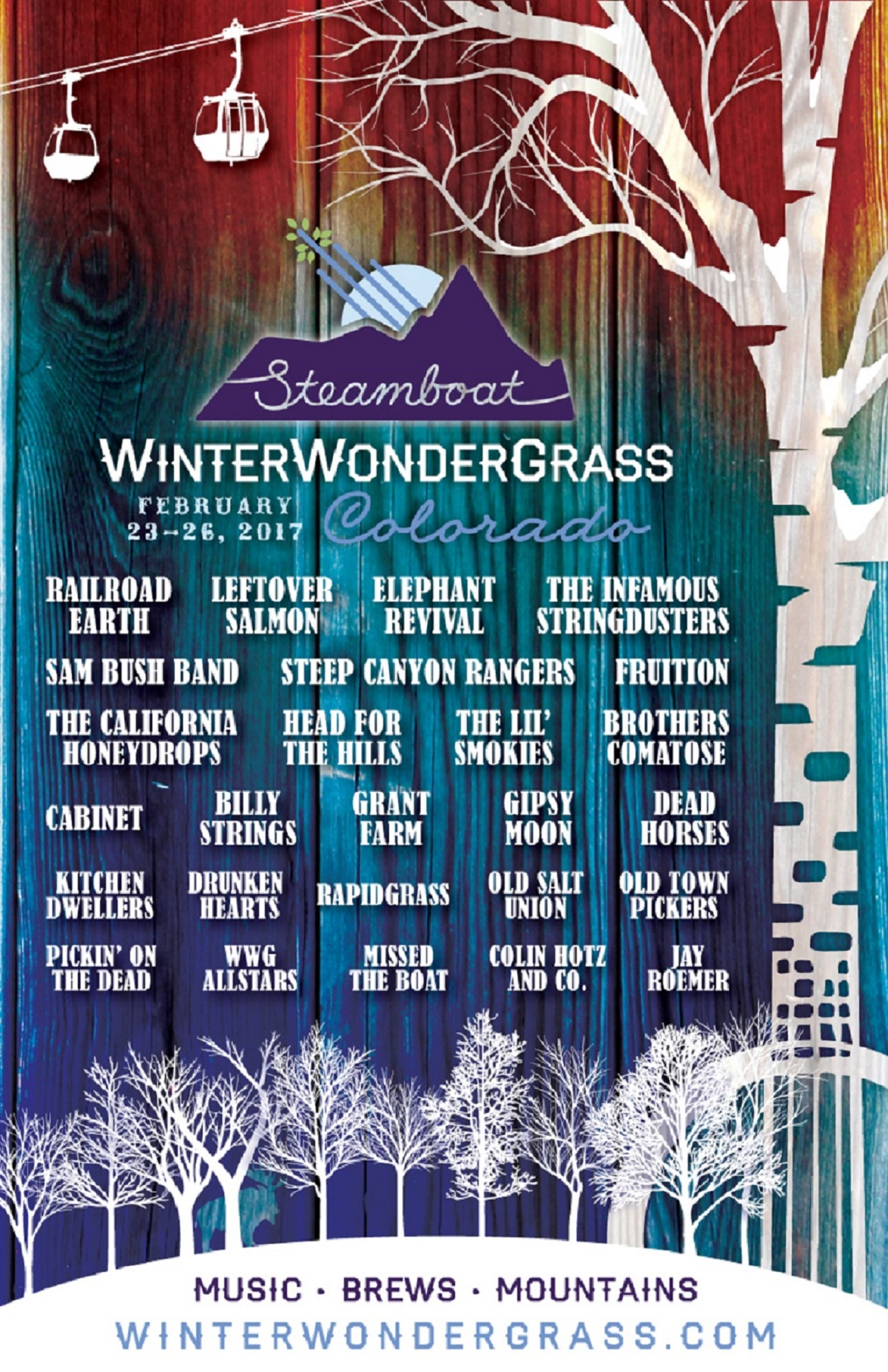 WinterWonderGrass Steamboat '17 LineUp