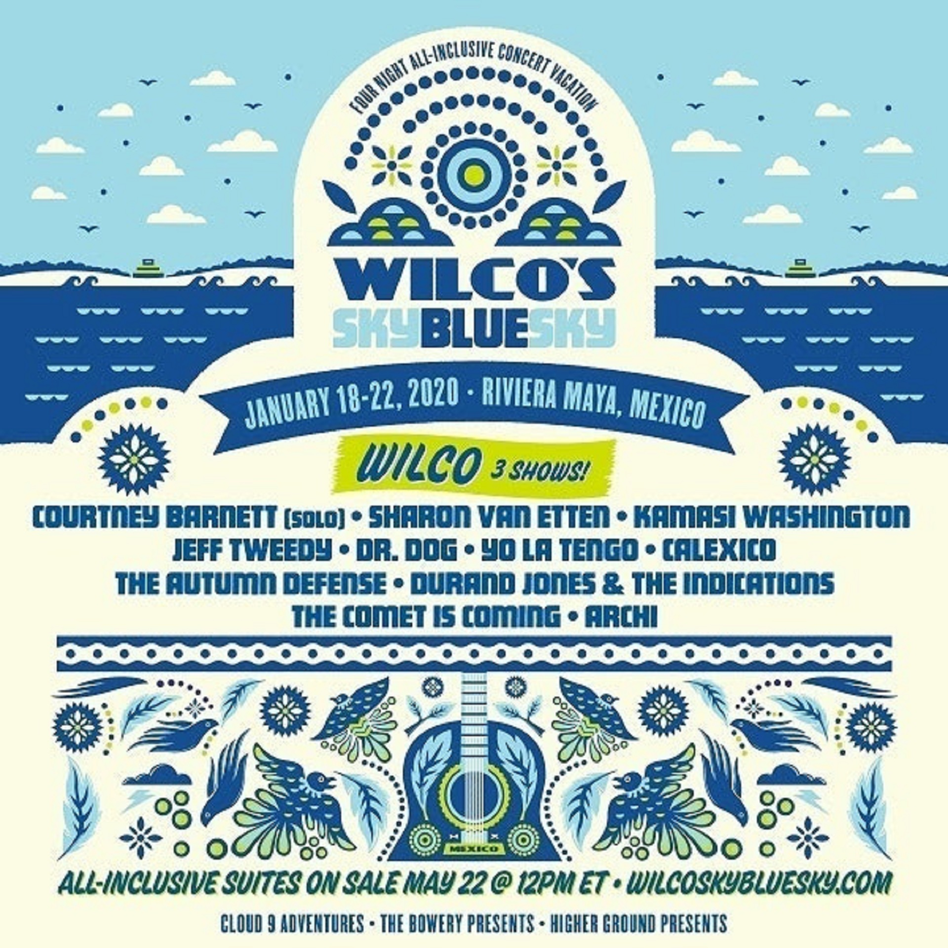 Wilco Announces Sky Blue Sky, January 18-22 in Riviera Maya, Mexico