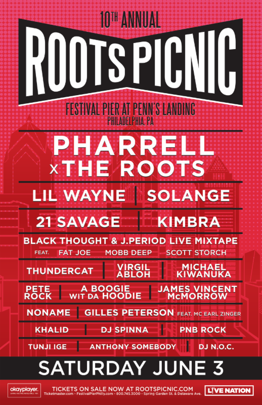 Roots Announce 10th Annual Roots Picnic