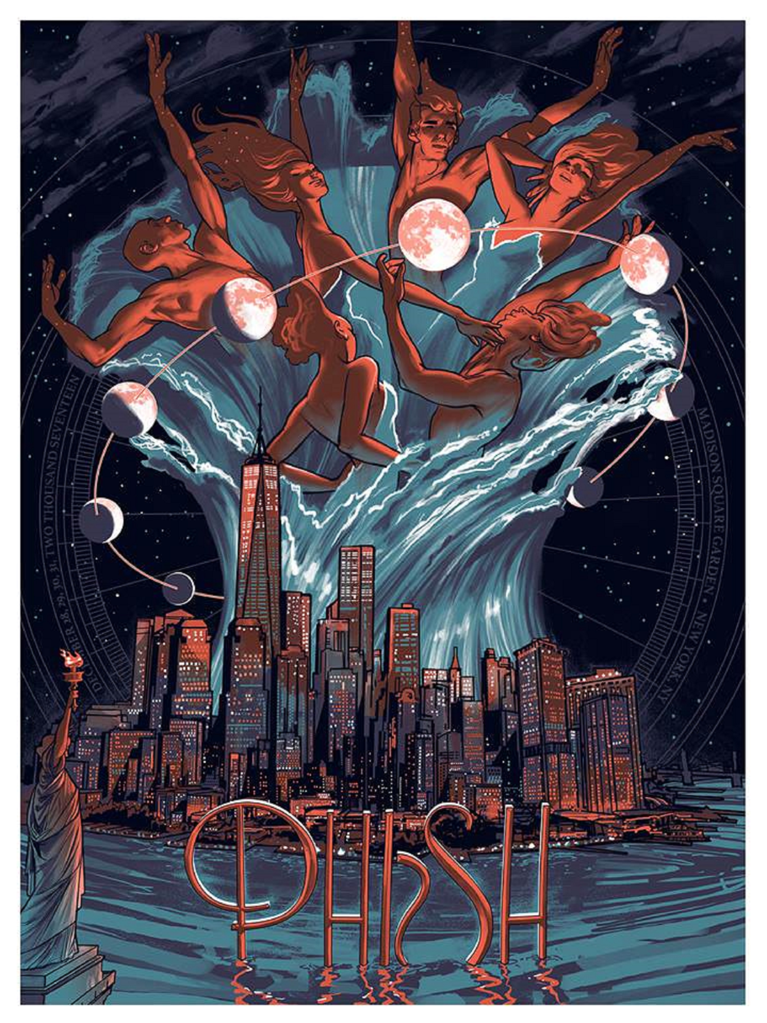 Phish MSG Posters Signed by Trey, Mike, Page, & Jon