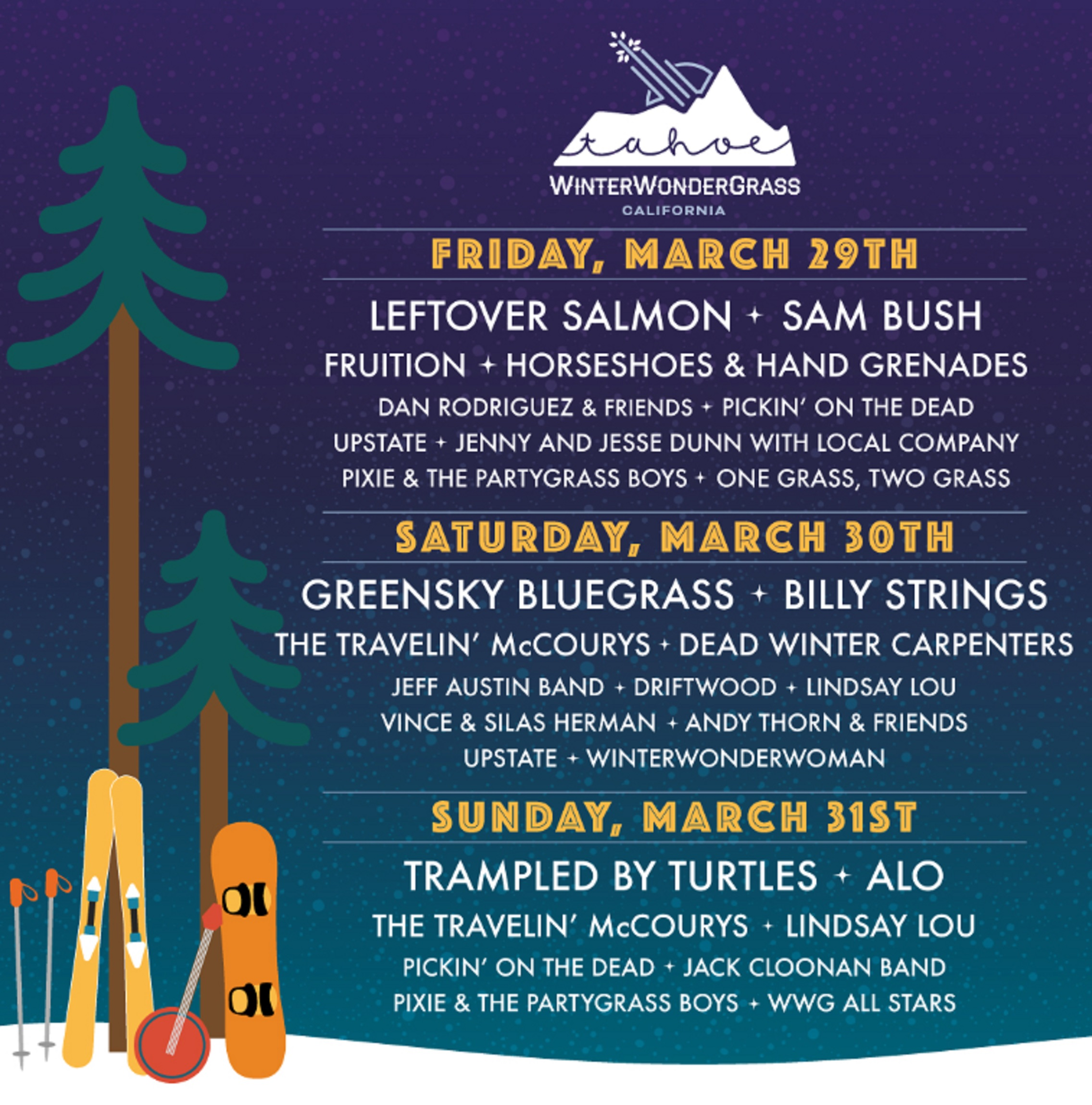 WinterWonderGrass Tahoe is THREE WEEKS Away