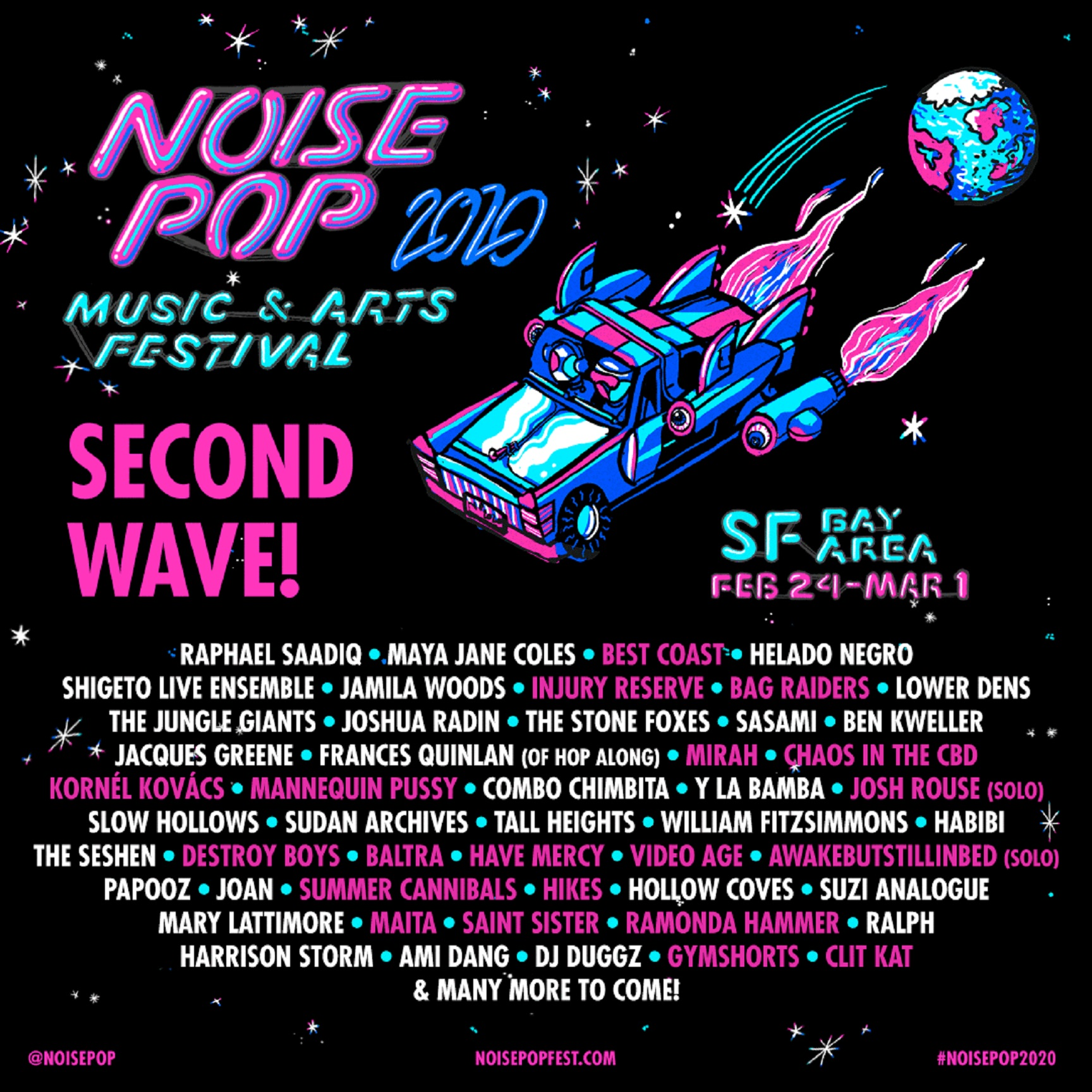 Noise Pop Festival Expands 2020 Music Lineup