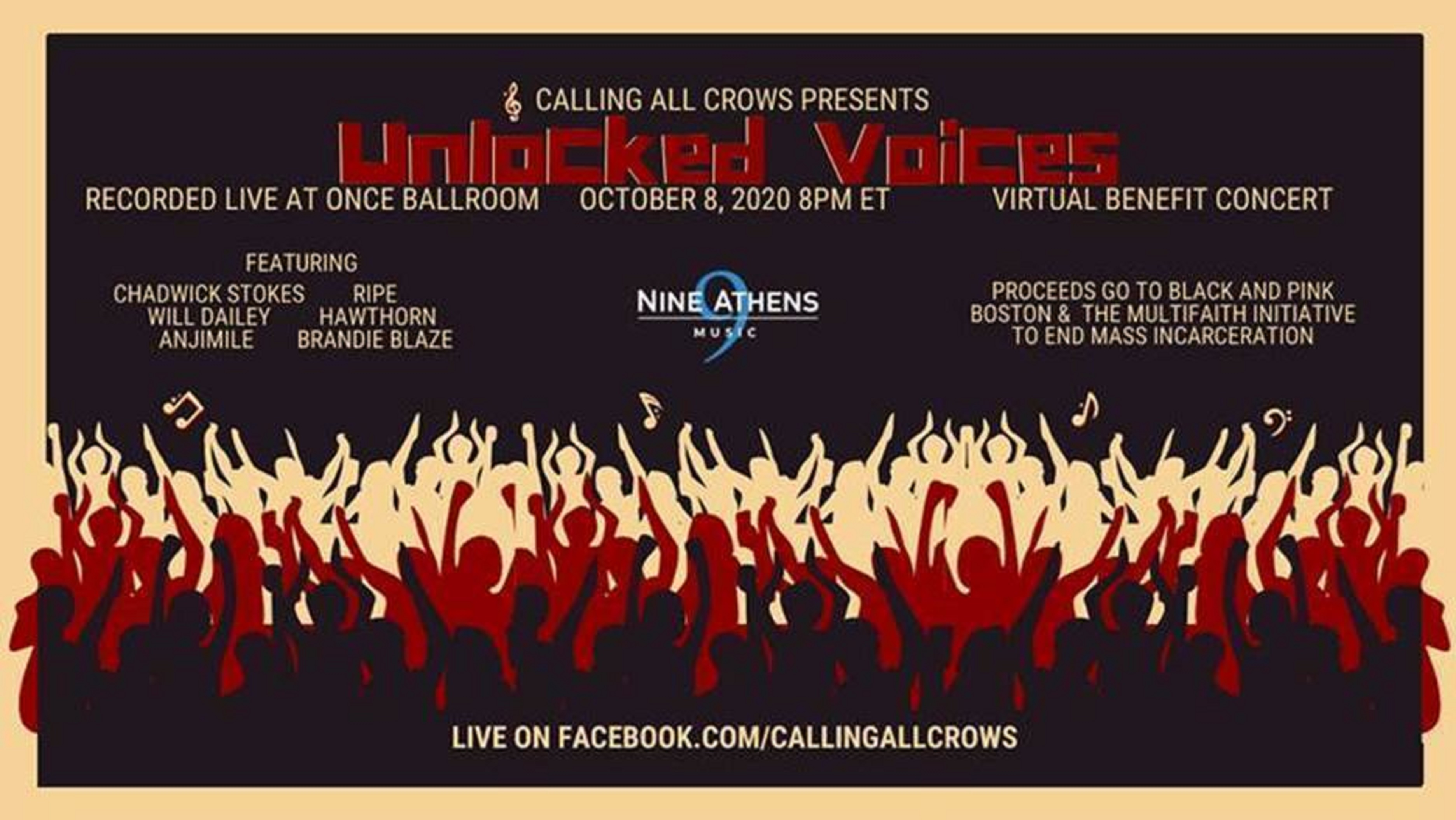 CALLING ALL CROWS 'Unlocked Voices' a Streaming Concert To Bring Awareness About Mass Incarceration