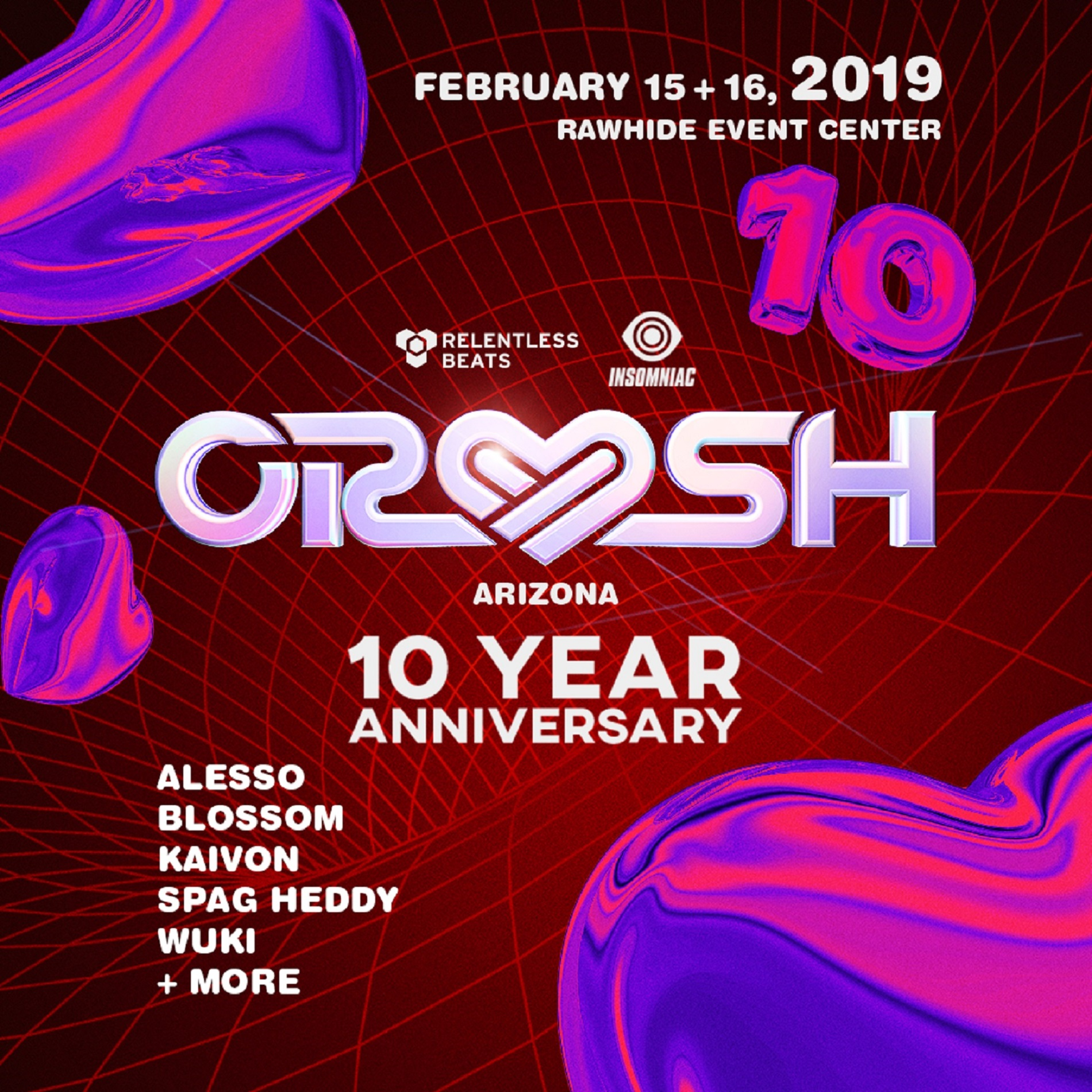 10TH ANNIVERSARY CRUSH ARIZONA EXPANDS TO TWO DAYS, FEBRUARY 15-16, 2019