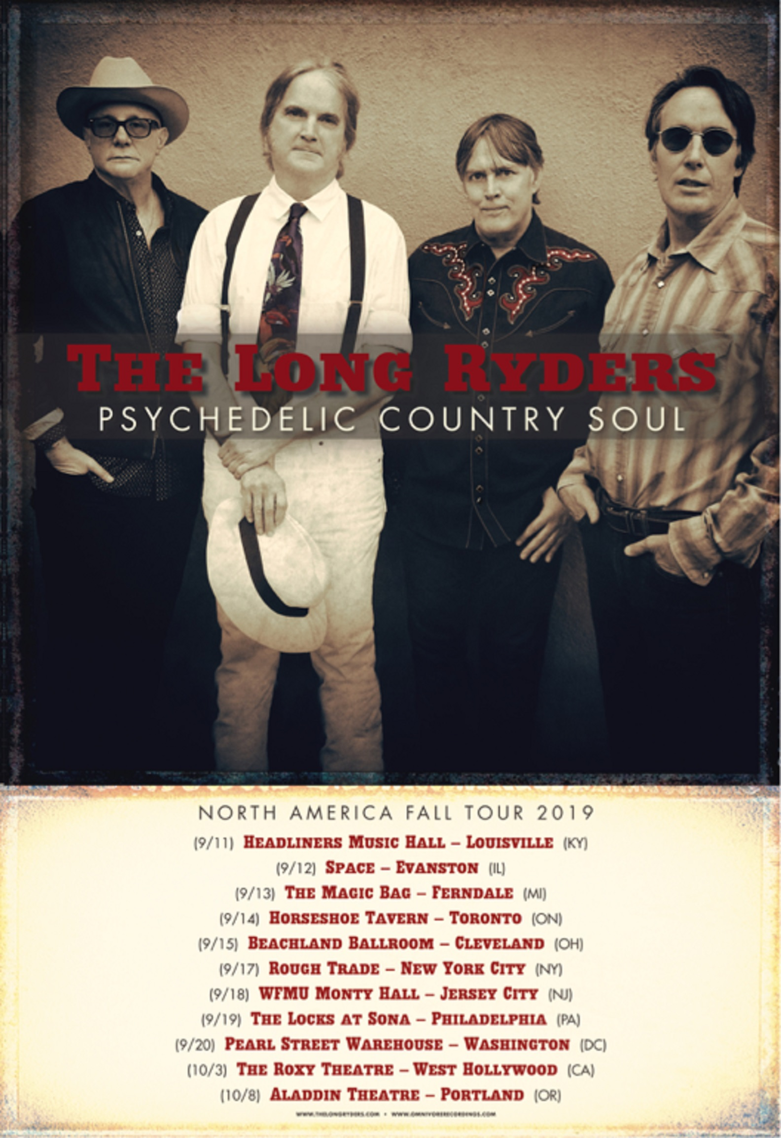 The Long Ryders Announce Fall 2019 Tour