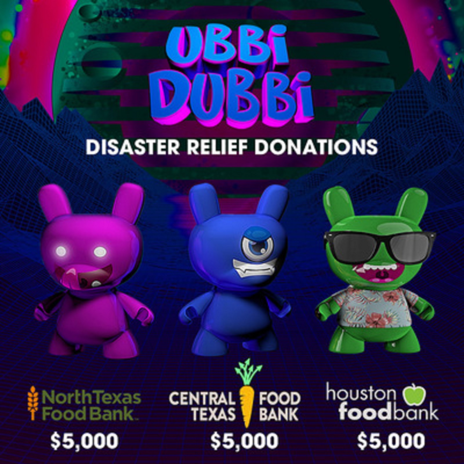 Ubbi Dubbi Festival Producers, Disco Donnie Presents,  Donate $15,000 To Texas Food Banks in Wake of Winter Storms