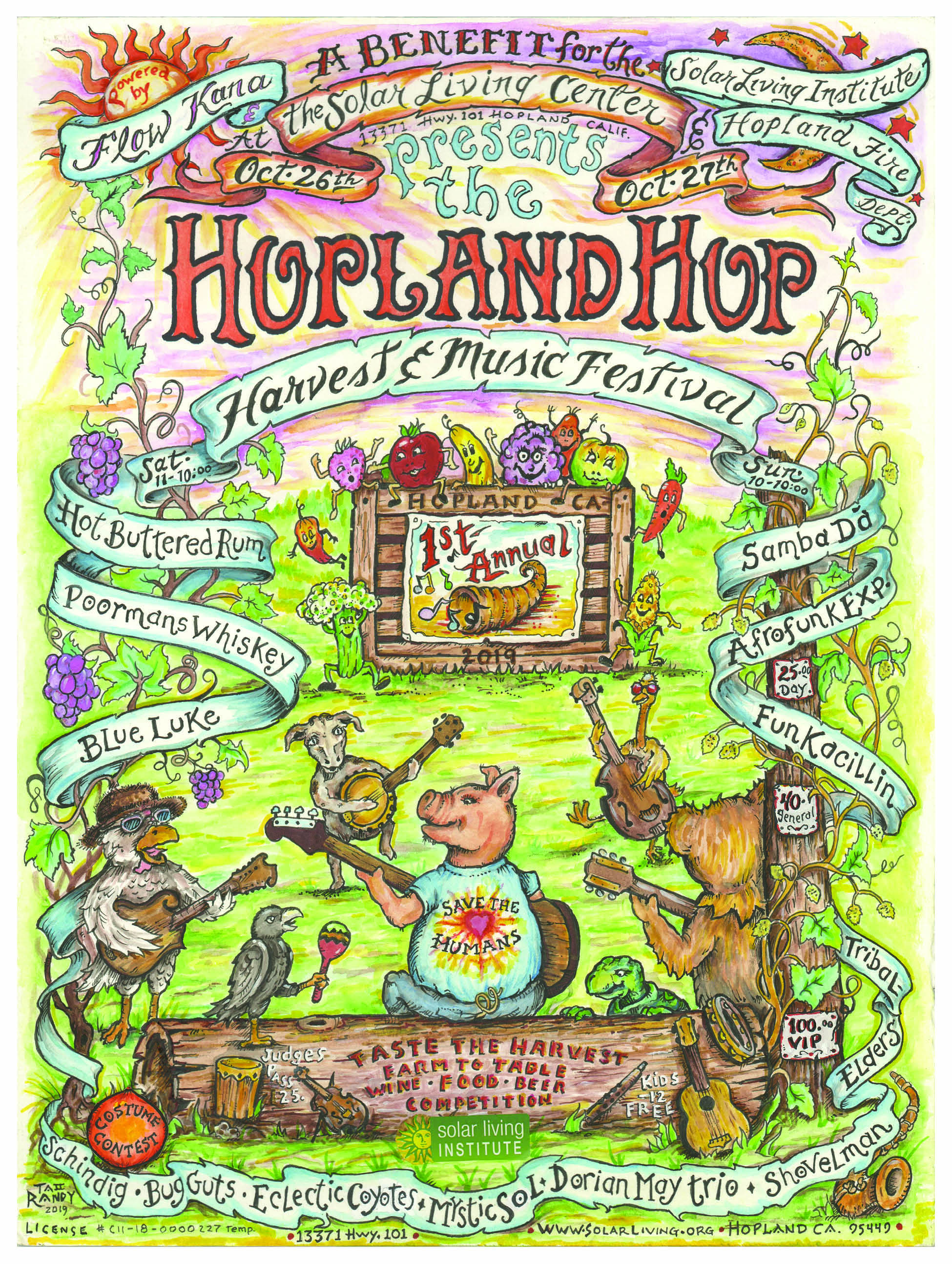 Announcing the The Hopland Hop - Harvest & Music Festival