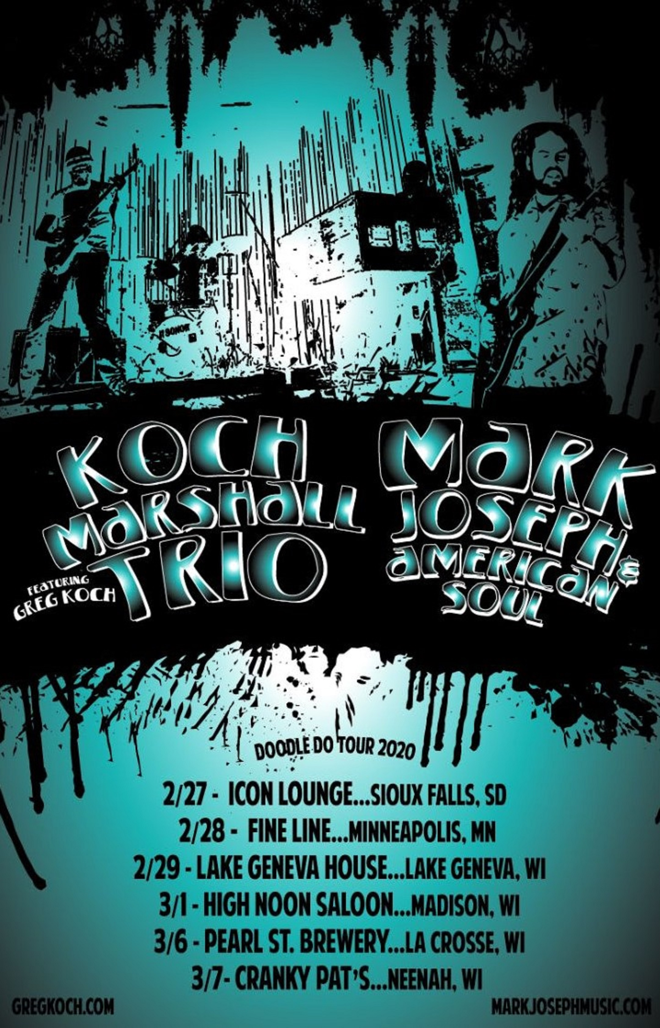 Koch-Marshall Trio and Mark Joseph & American Soul on Tour