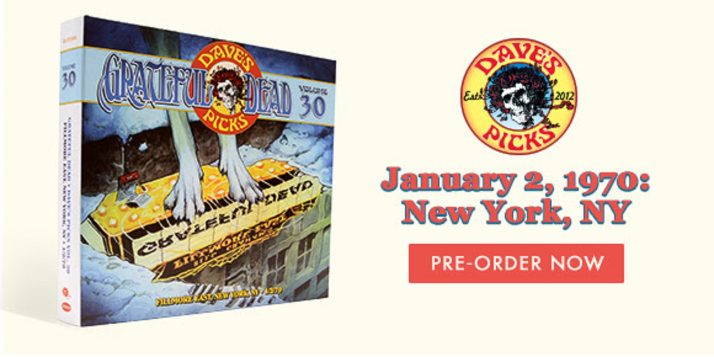 Now Available For Pre-Order: Dave's Picks Volume 30