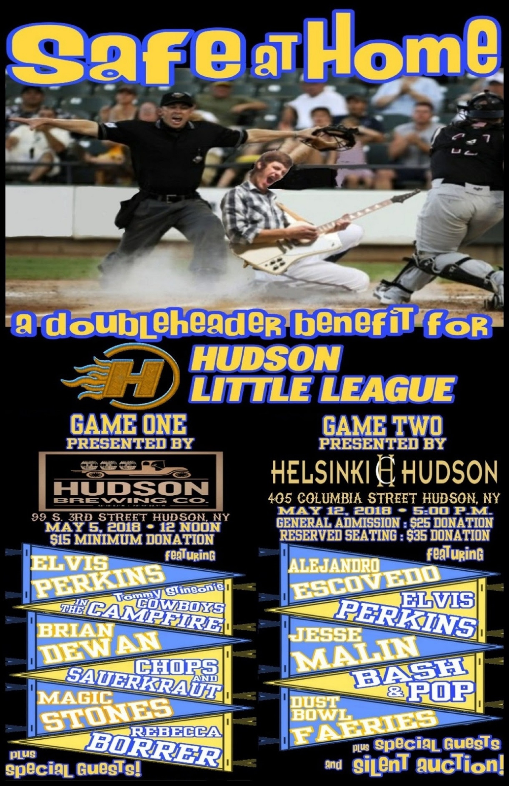 Tommy Stinson Announces Safe At Home--A Benefit For Hudson Little League