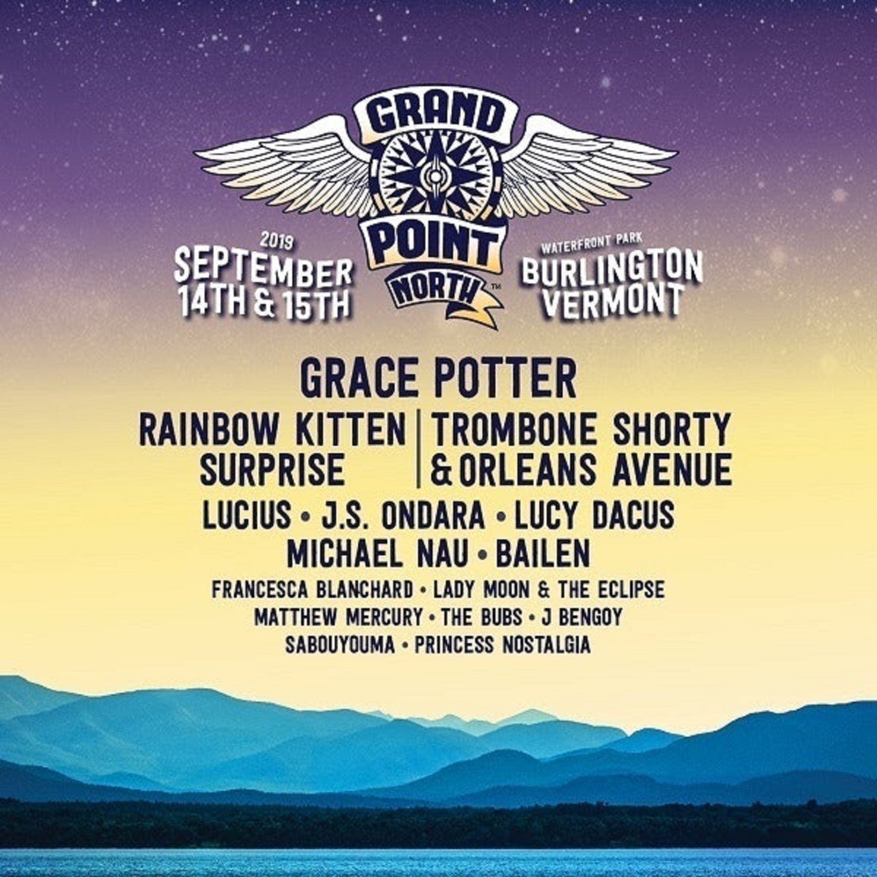 Grace Potter announces lineup for Ninth Annual Grand Point North Festival