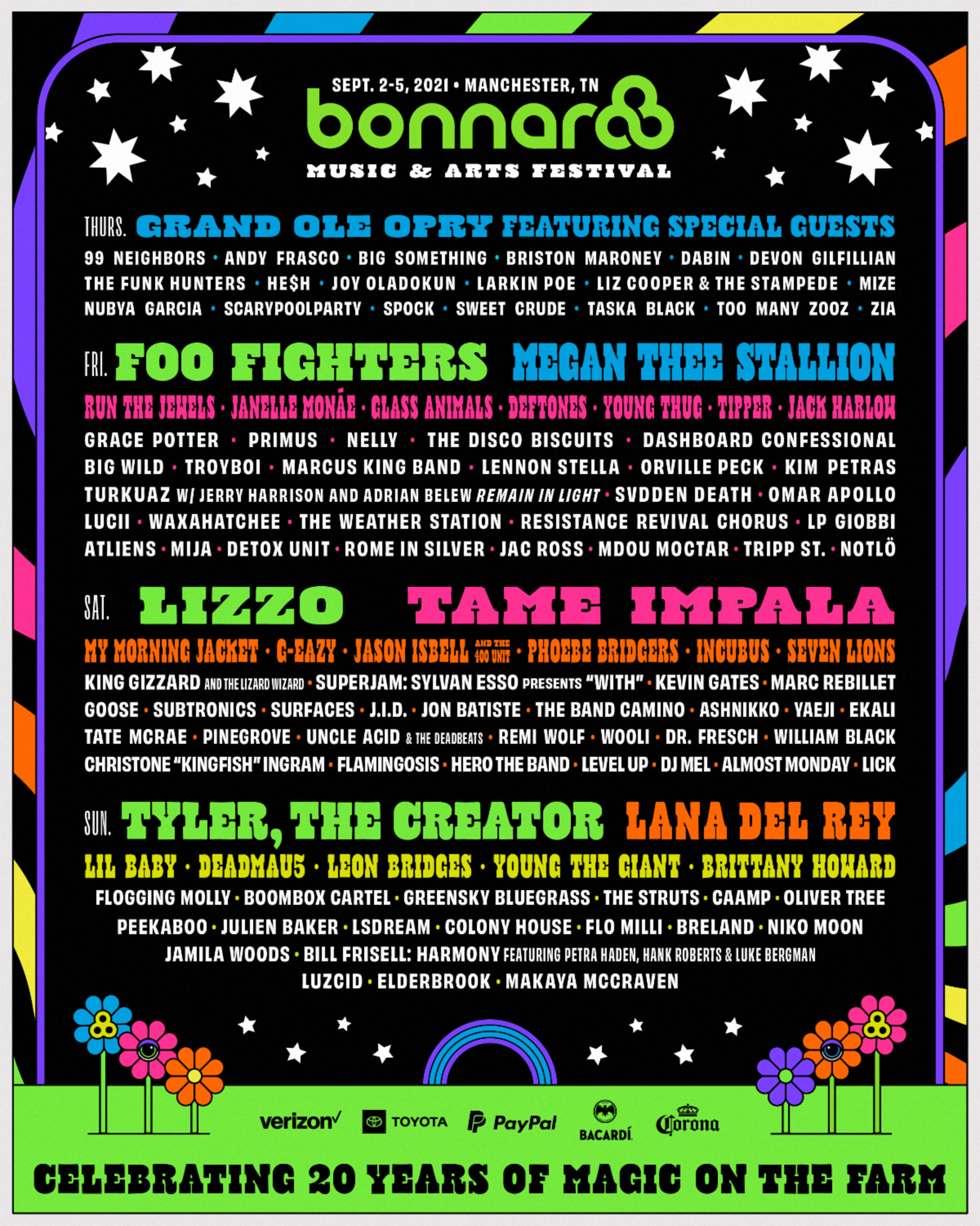 Bonnaroo announces 2021 lineup