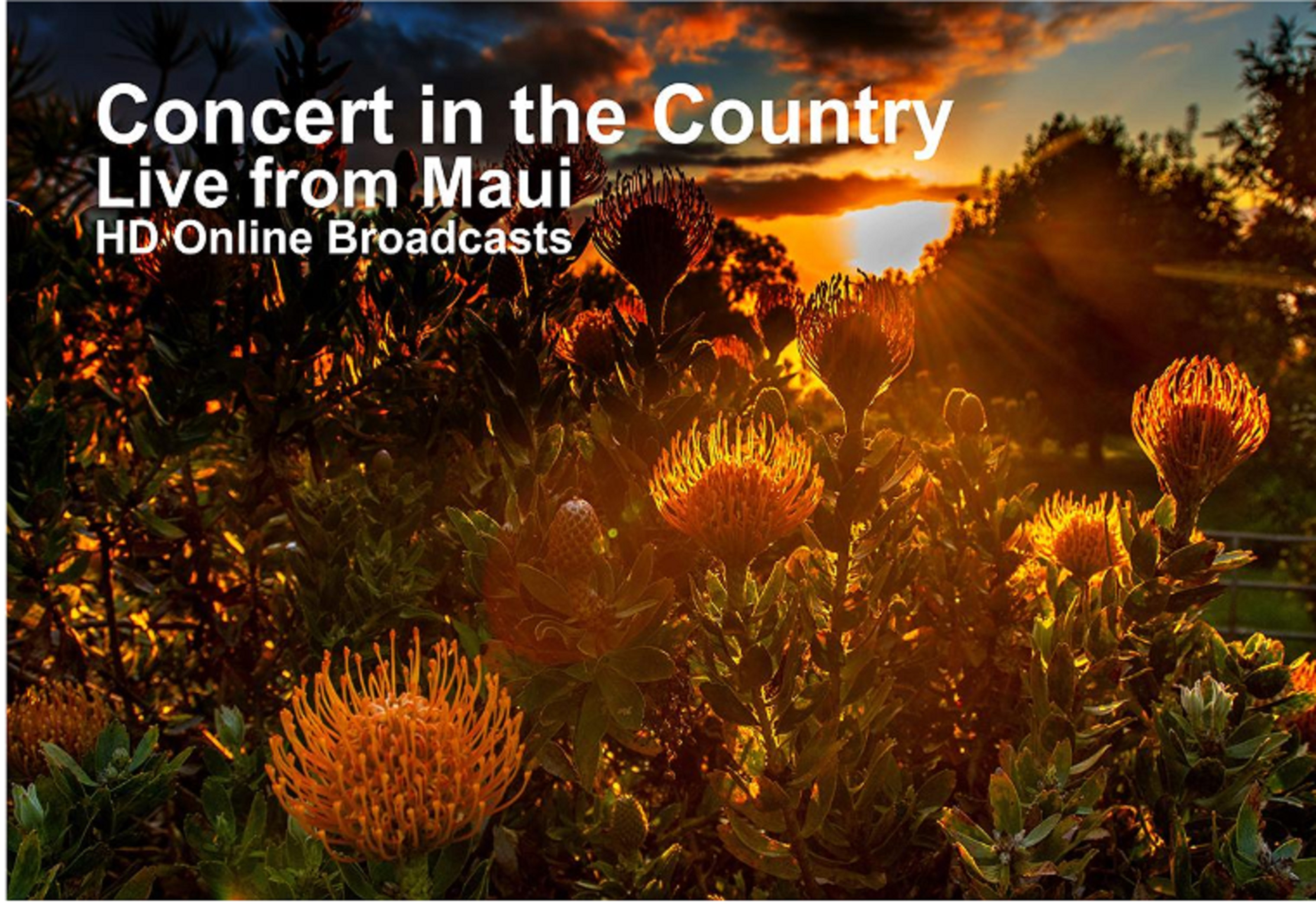 TWO CONCERTS BROADCAST LIVE FROM MAUI FEATURING A GRAMMY AWARD-WINNING HAWAIIAN LEGEND AND A RISING STAR