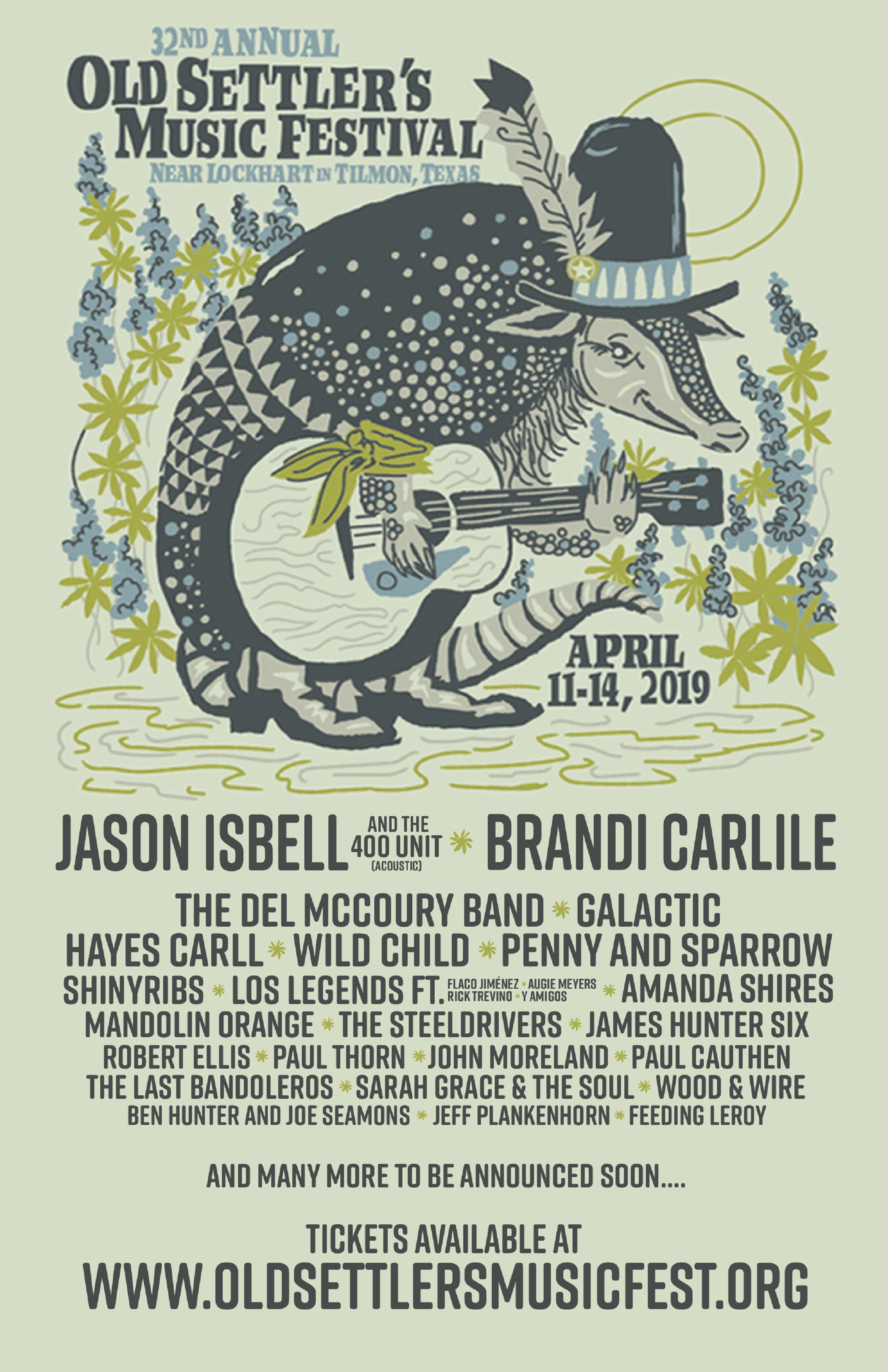 Jason Isbell And The 400 Unit And Brandi Carlile To Headline The 2019 Old Settler's Music Festival