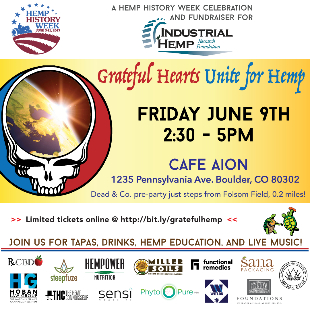 Grateful Hearts Unite for Hemp - 6/9/17