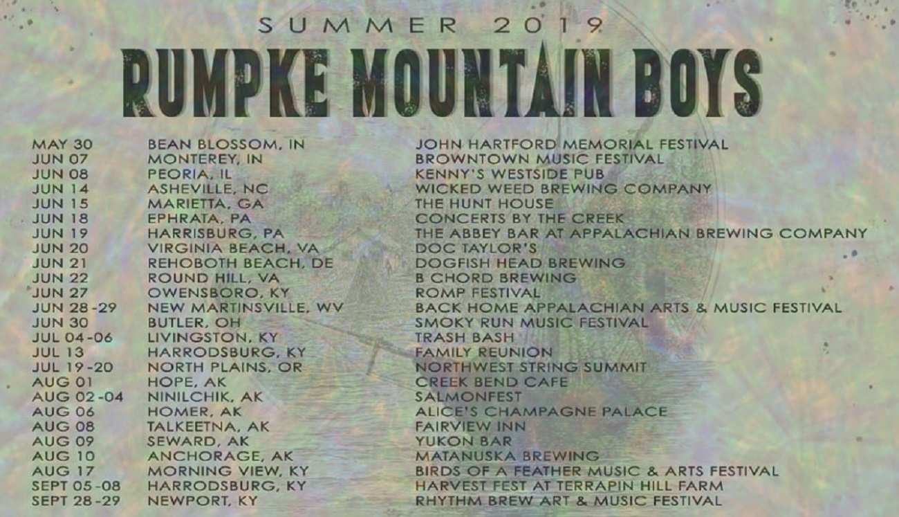 Rumpke Mountain Boys Hit the Road on a Huge Summer Tour, from the East Coast to Alaska