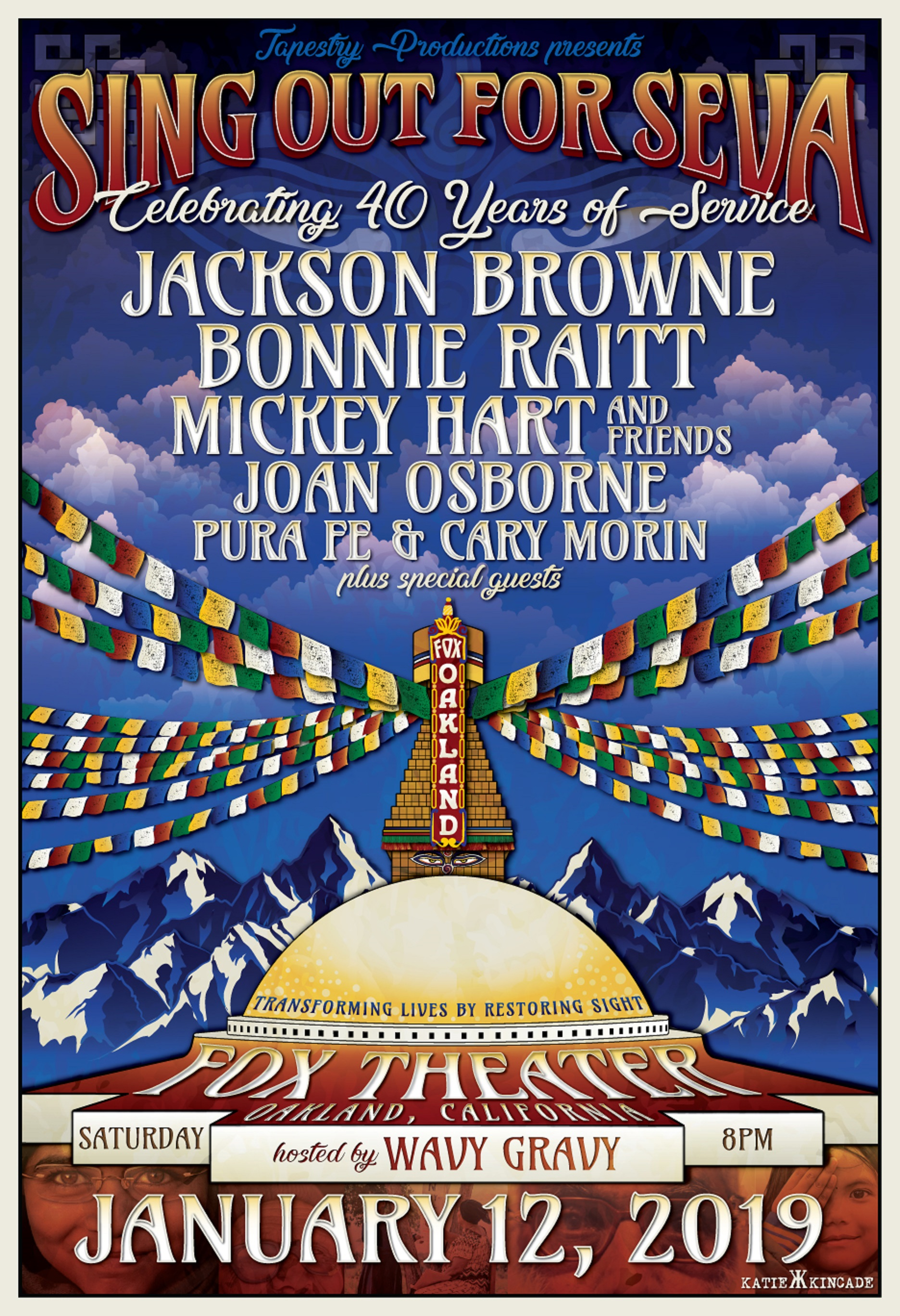 40 Years of Benefit Concerts for Seva - Jackson Browne, Bonnie Raitt to Play Anniversary