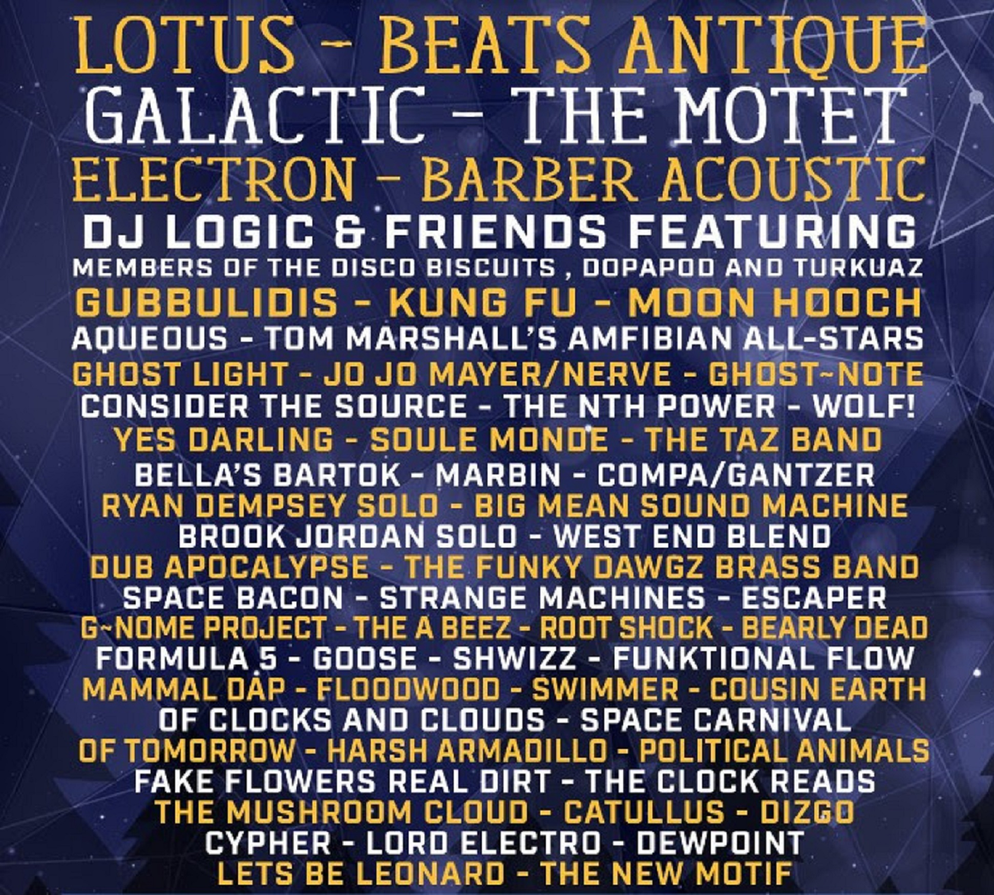 Disc Jam '18 Lotus Beats Antique Galactic Electron +100 more