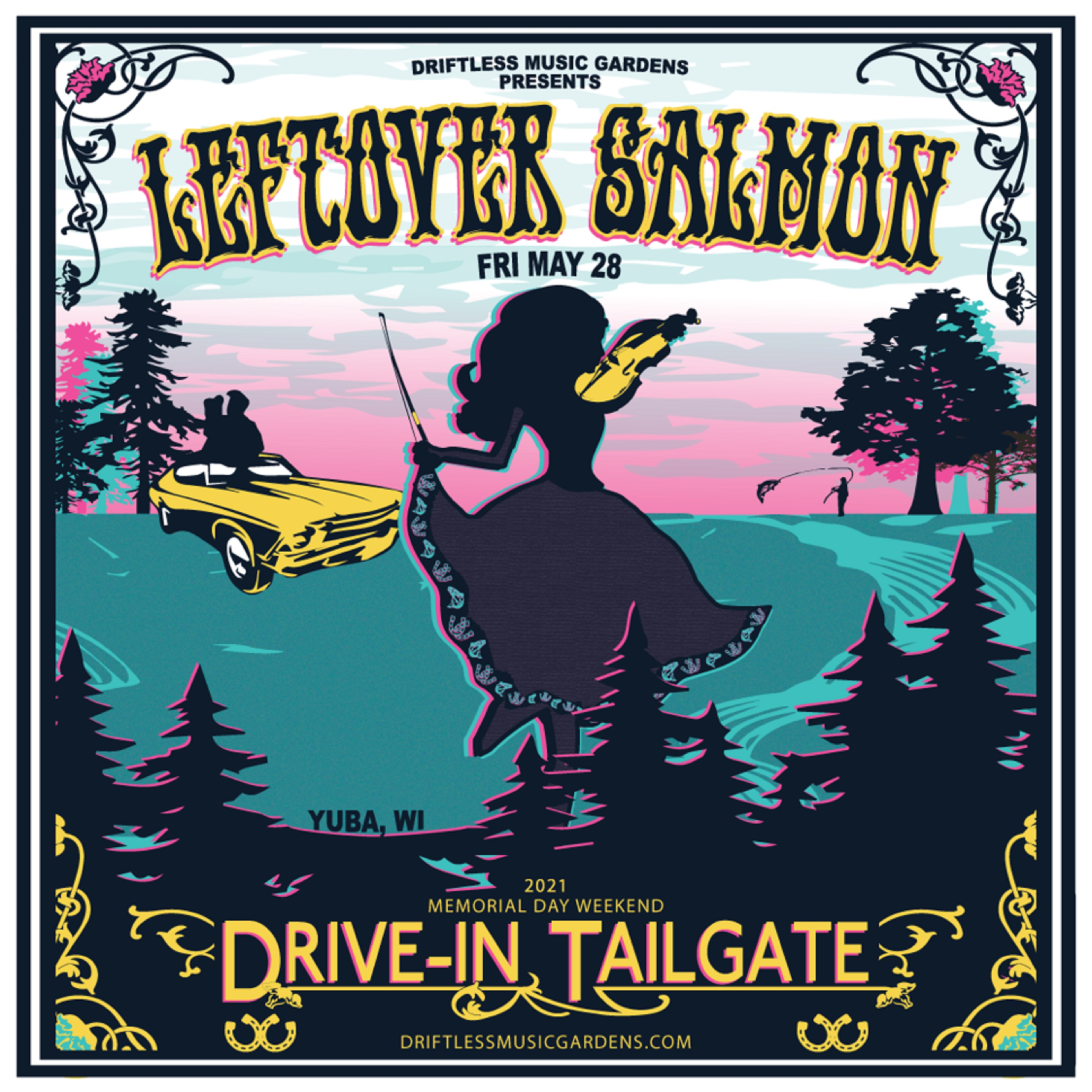 Leftover Salmon To Play Driftless Music Gardens' Memorial Day Drive-In Tailgate Concert Series