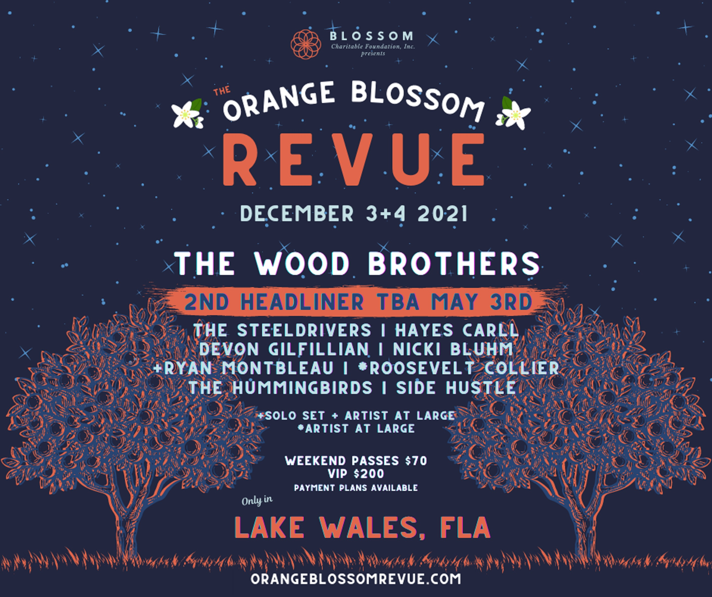 ORANGE BLOSSOM REVUE ANNOUNCES 2021 LINEUP