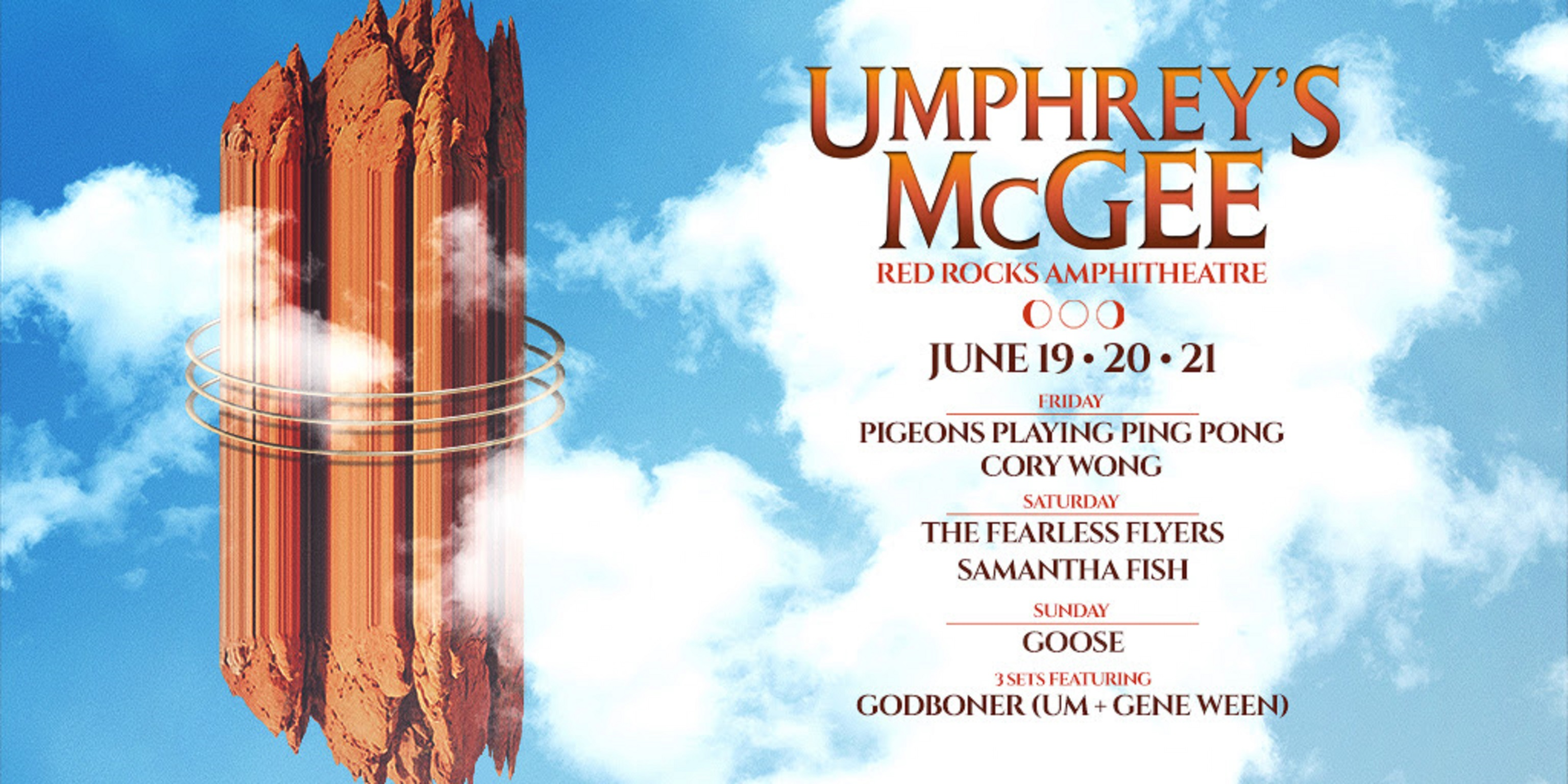 Umphrey's McGee Return To Red Rocks June 19-21