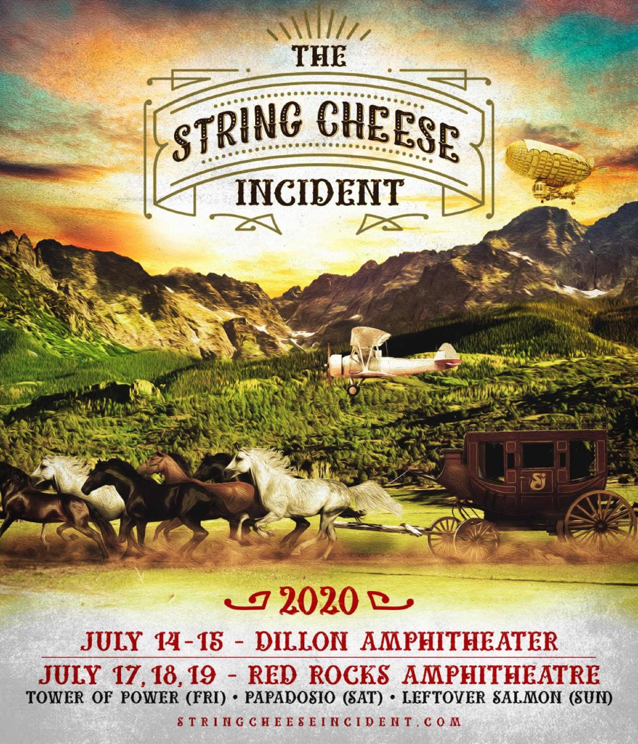 The String Cheese Incident announces 2020 Dillon Amphitheater and Red Rocks Incidents