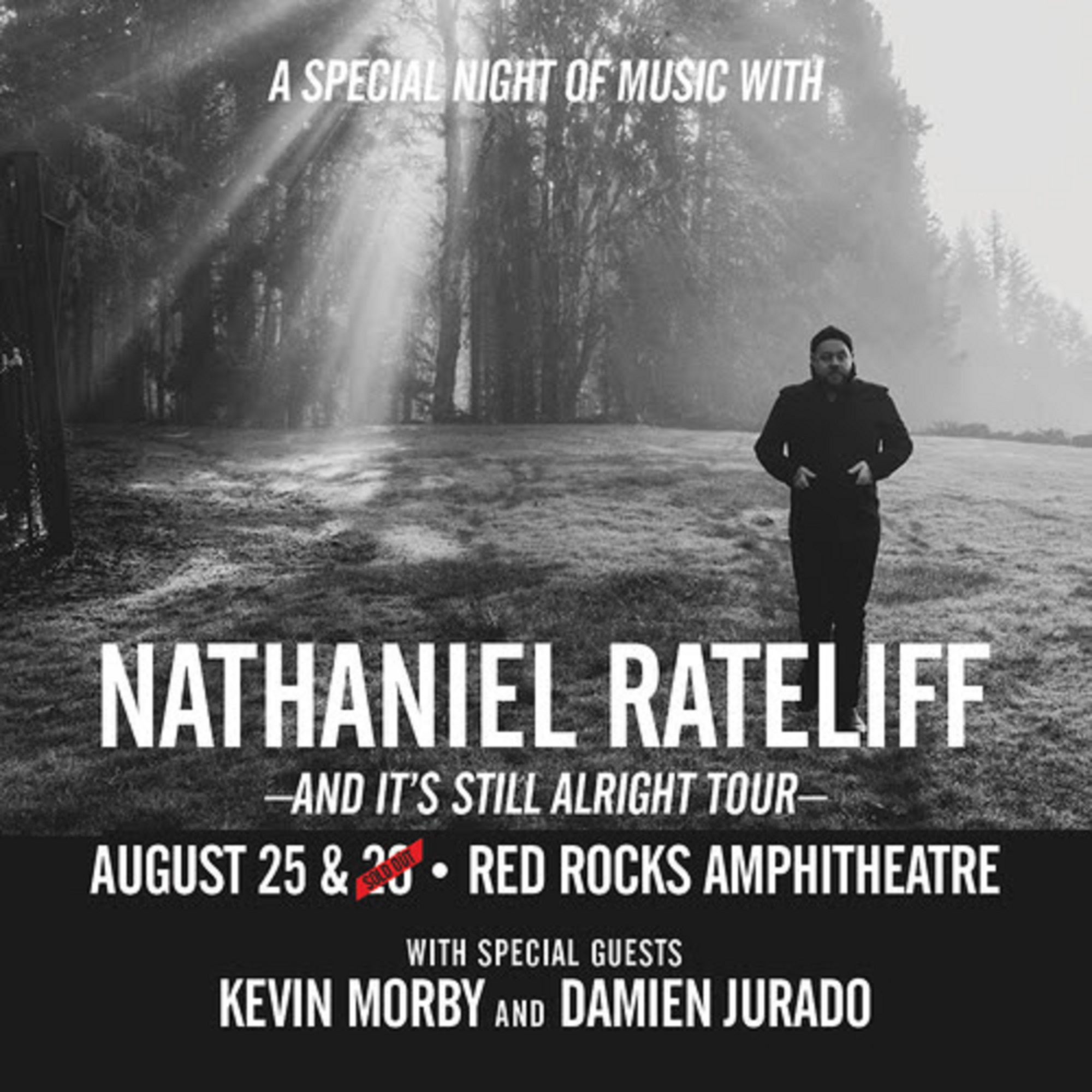 Nathaniel Rateliff confirms second night at Red Rocks on August 25th