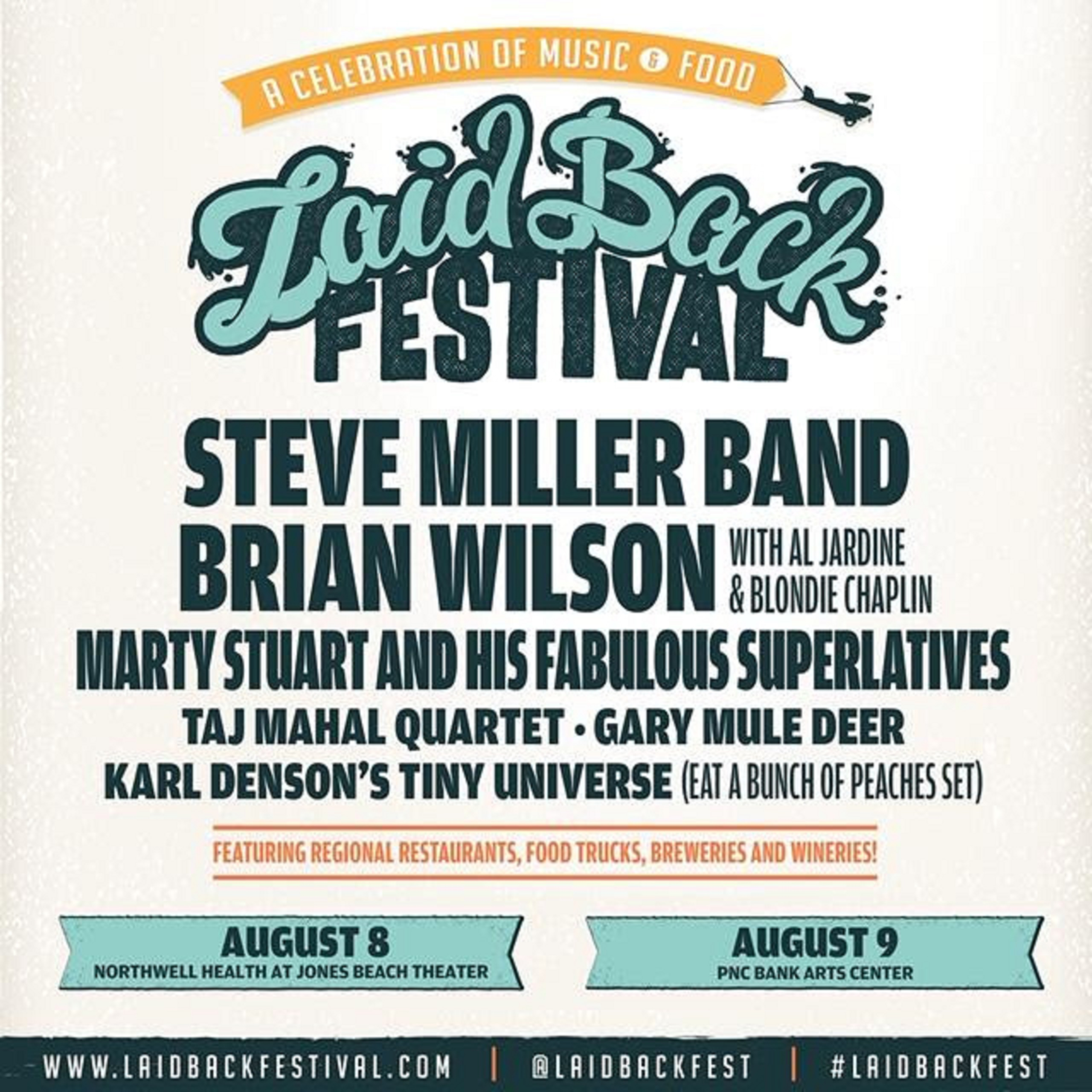 Laid Back fest announces 2020 shows - Brian Wilson, Steve Miller and more