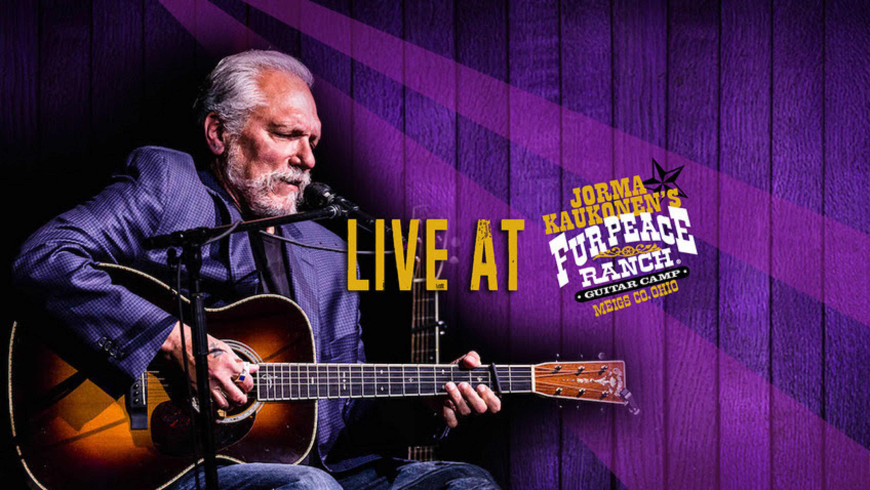 "Jorma Kaukonen will perform a ""Live from the Fur Peace Ranch"" on Saturday"